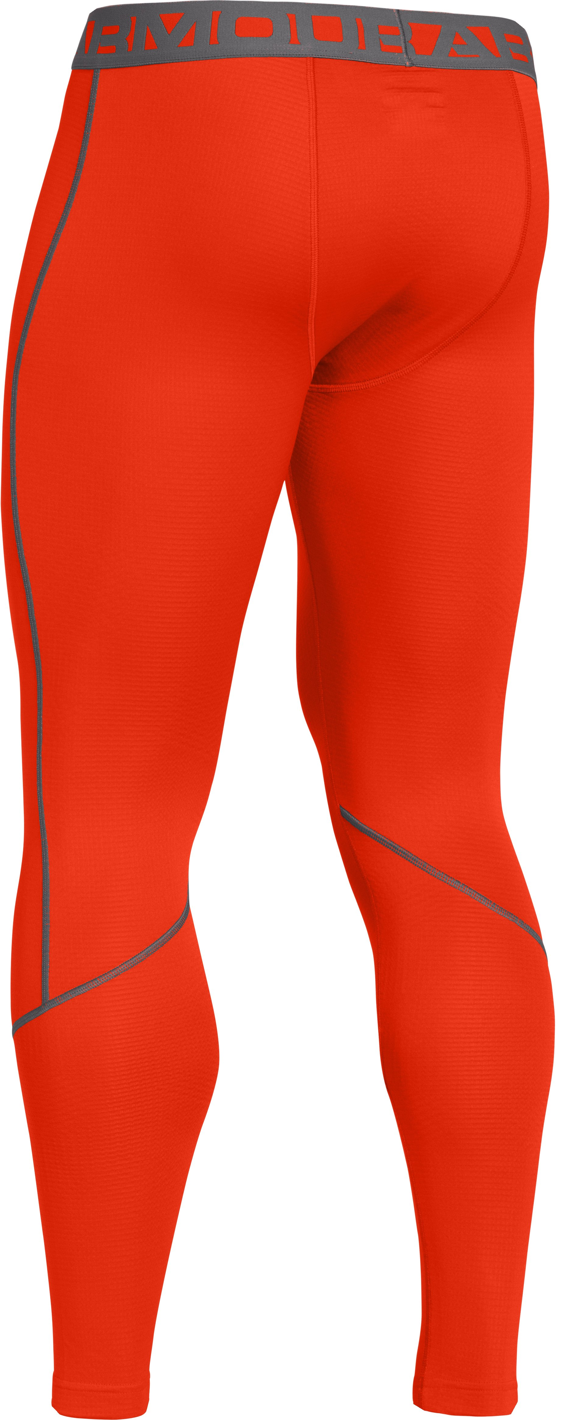 Men's UA ColdGear® Infrared Grid Leggings, Volcano, undefined