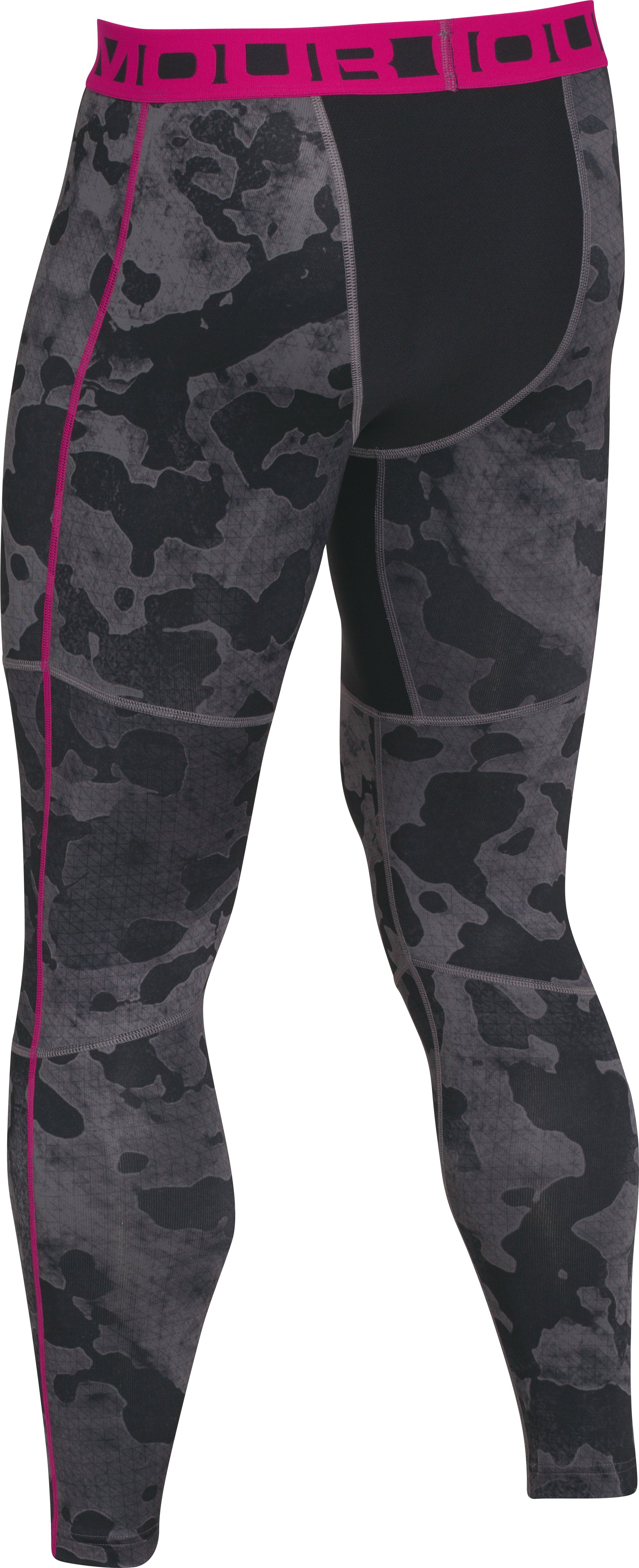 Men's UA ColdGear® Evo Printed Compression Leggings, Graphite