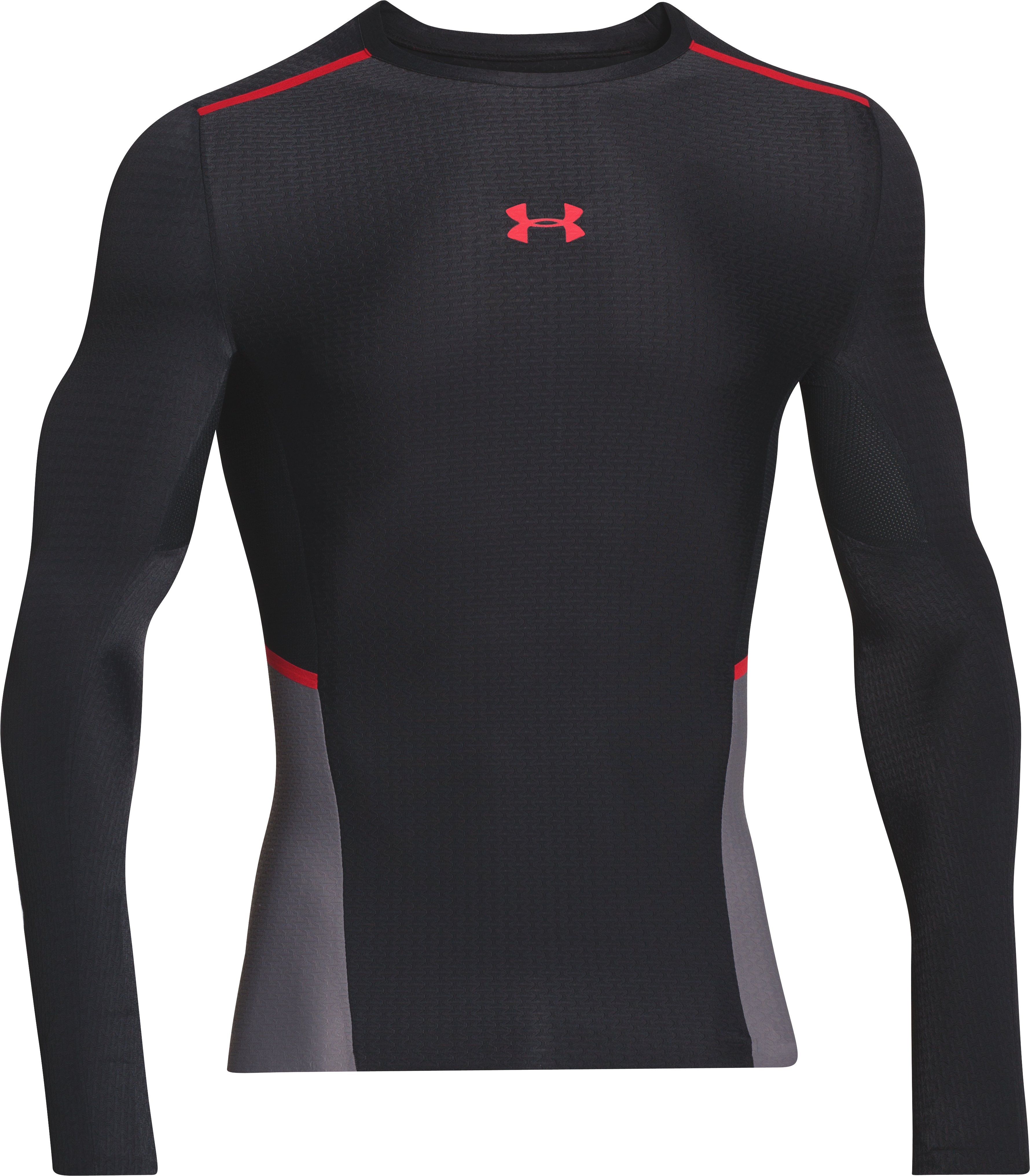 Men's UA ClutchFit™ Long Sleeve Compression T-Shirt, Black , undefined