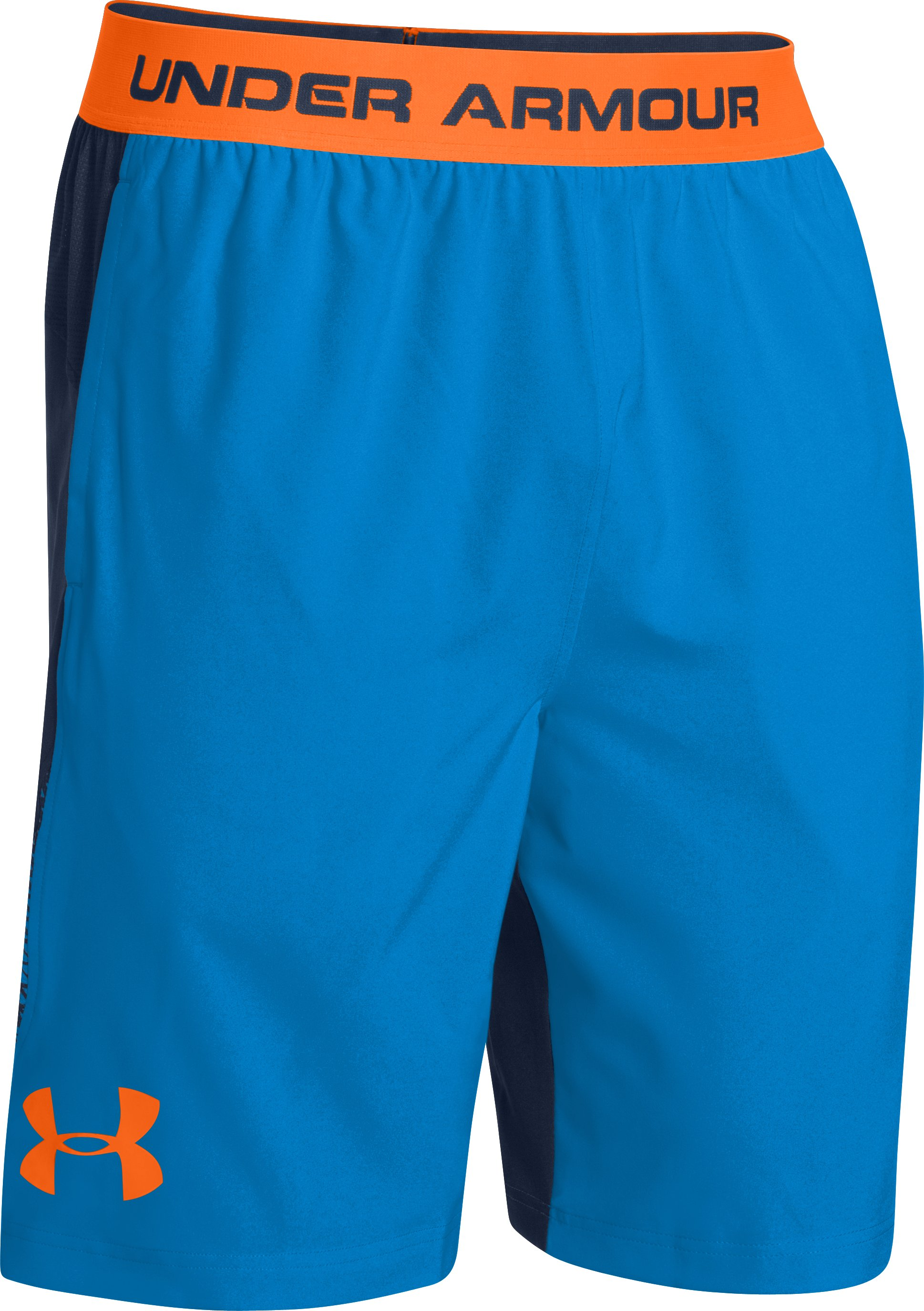 Men's UA Burst Woven Shorts, ELECTRIC BLUE