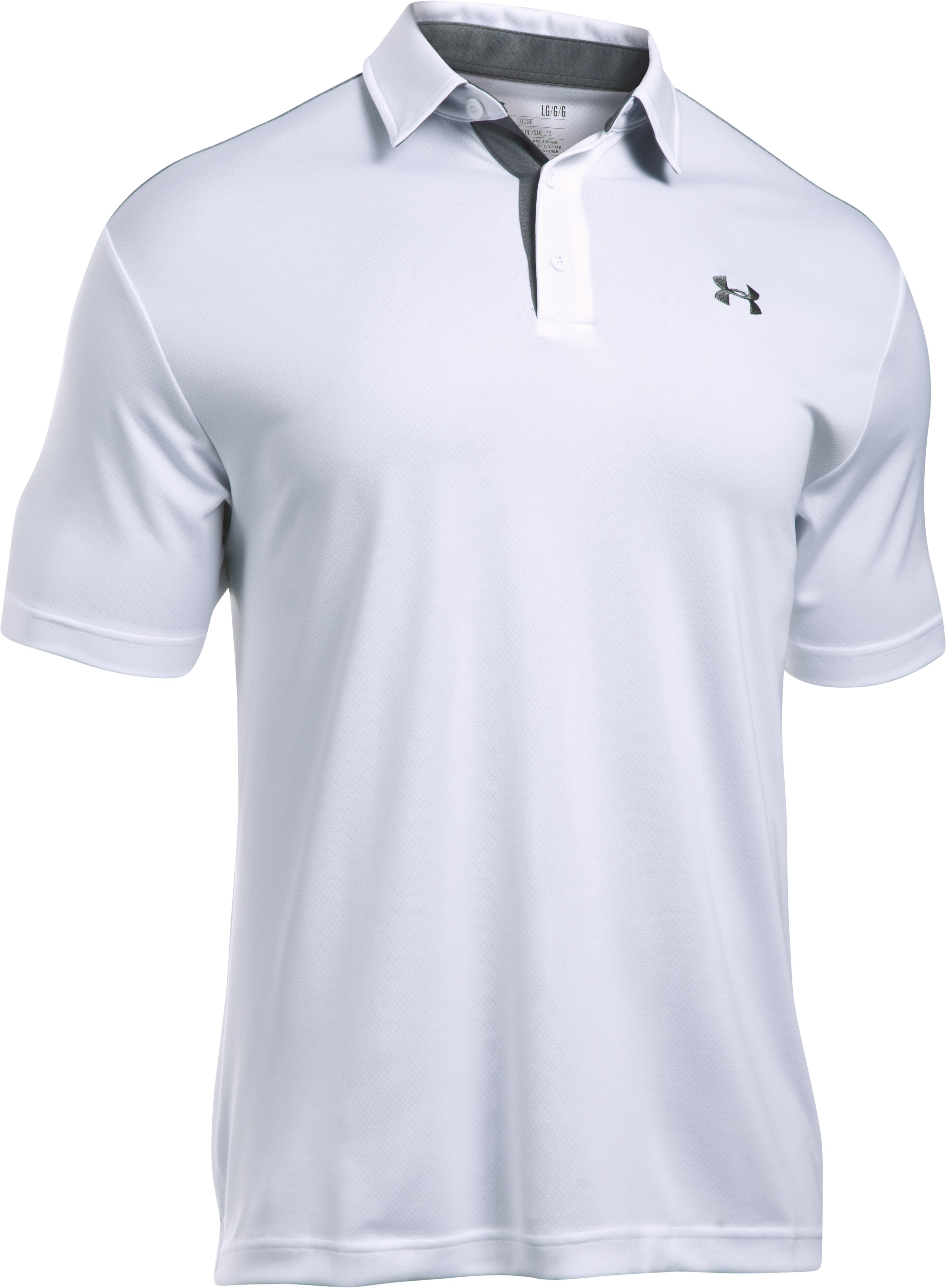 Men's UA Leaderboard Polo, White, undefined
