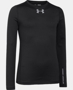 Boys' UA ColdGear® Armour Fitted Crew LIMITED TIME OFFER + FREE U.S. SHIPPING 1 Color $22.49
