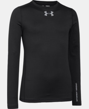 Boys' UA ColdGear® Armour Fitted Crew LIMITED TIME OFFER + FREE U.S. SHIPPING 1 Color $29.99