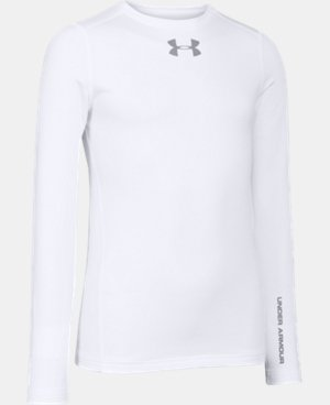 Boys' UA ColdGear® Armour Fitted Crew LIMITED TIME OFFER + FREE U.S. SHIPPING  $29.99