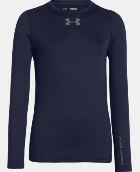 Boys' UA ColdGear® Armour Fitted Crew  1 Color $17.99