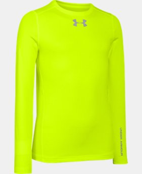 Boys' UA ColdGear® Armour Fitted Crew  1 Color $29.99