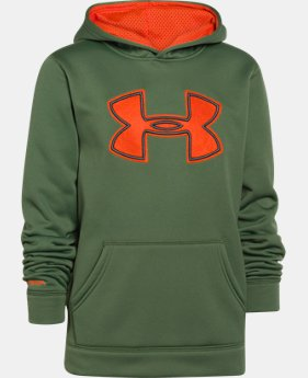 Boys' UA Storm Armour® Fleece Big Logo Hoodie  1 Color $26.99 to $33.99