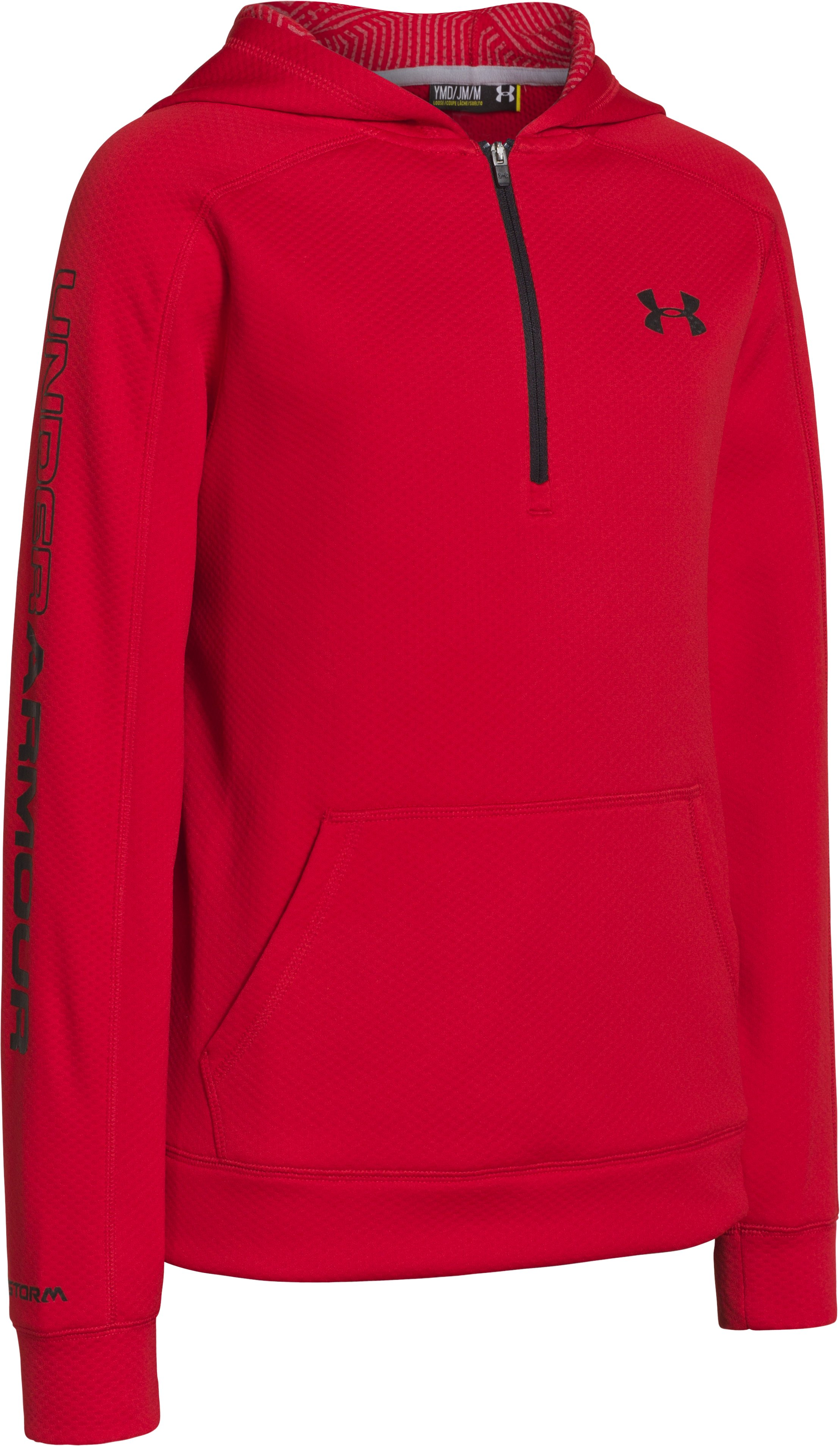 Boys' UA Storm ColdGear® Infrared Hoodie, Red, zoomed image