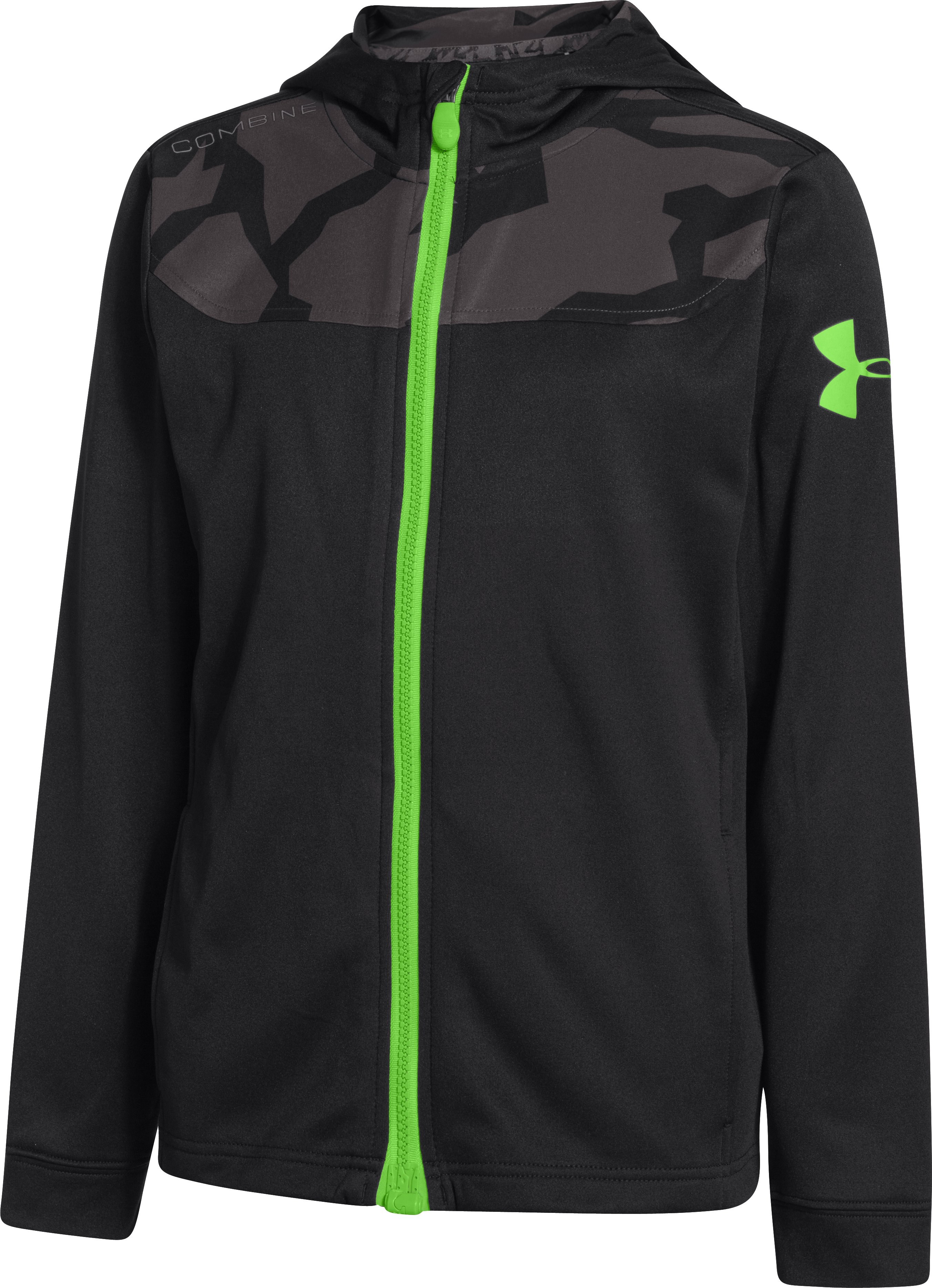 Boys' UA Combine® Training Jacket, Black , zoomed image
