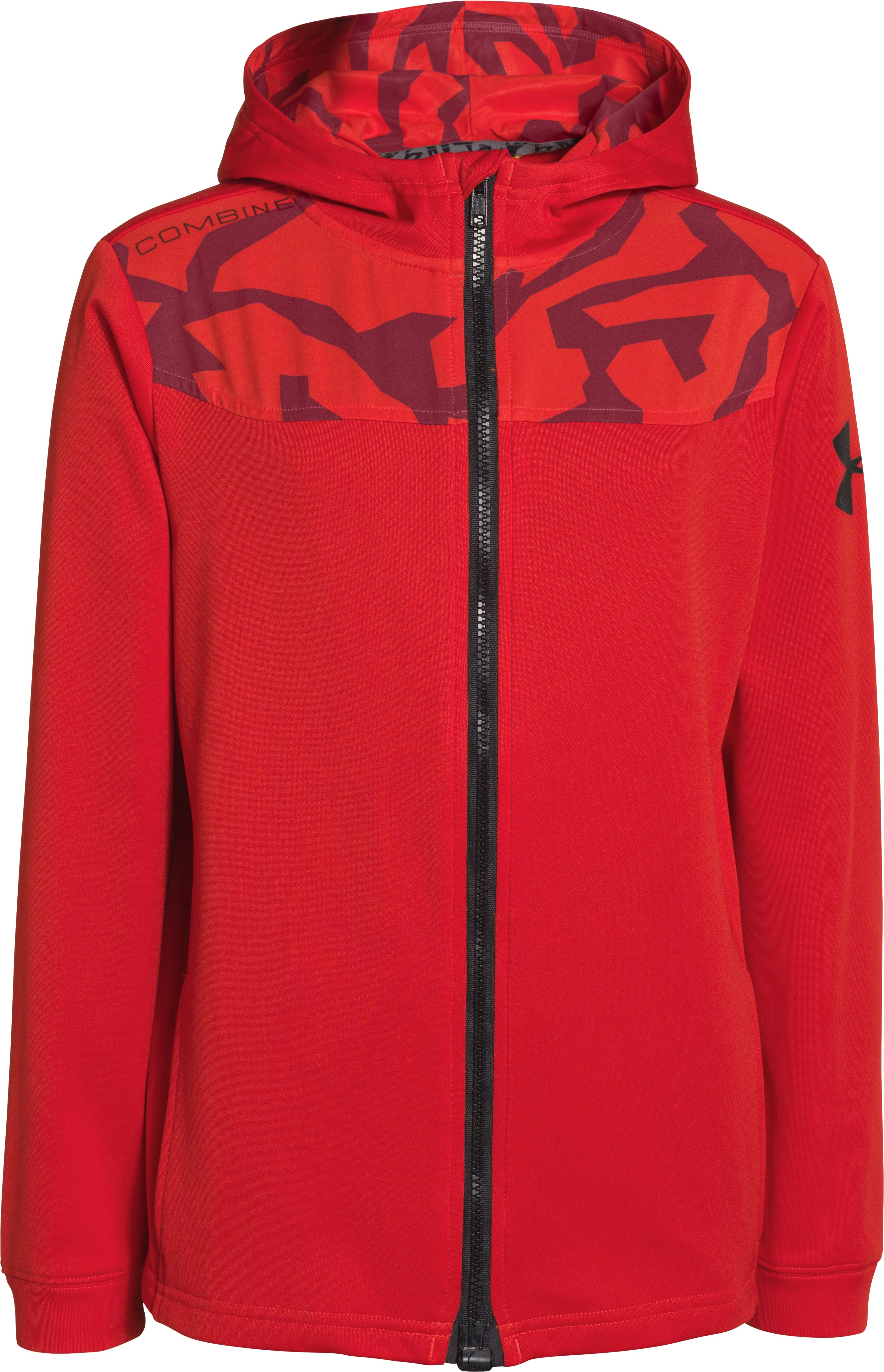 Boys' UA Combine® Training Jacket, RISK RED