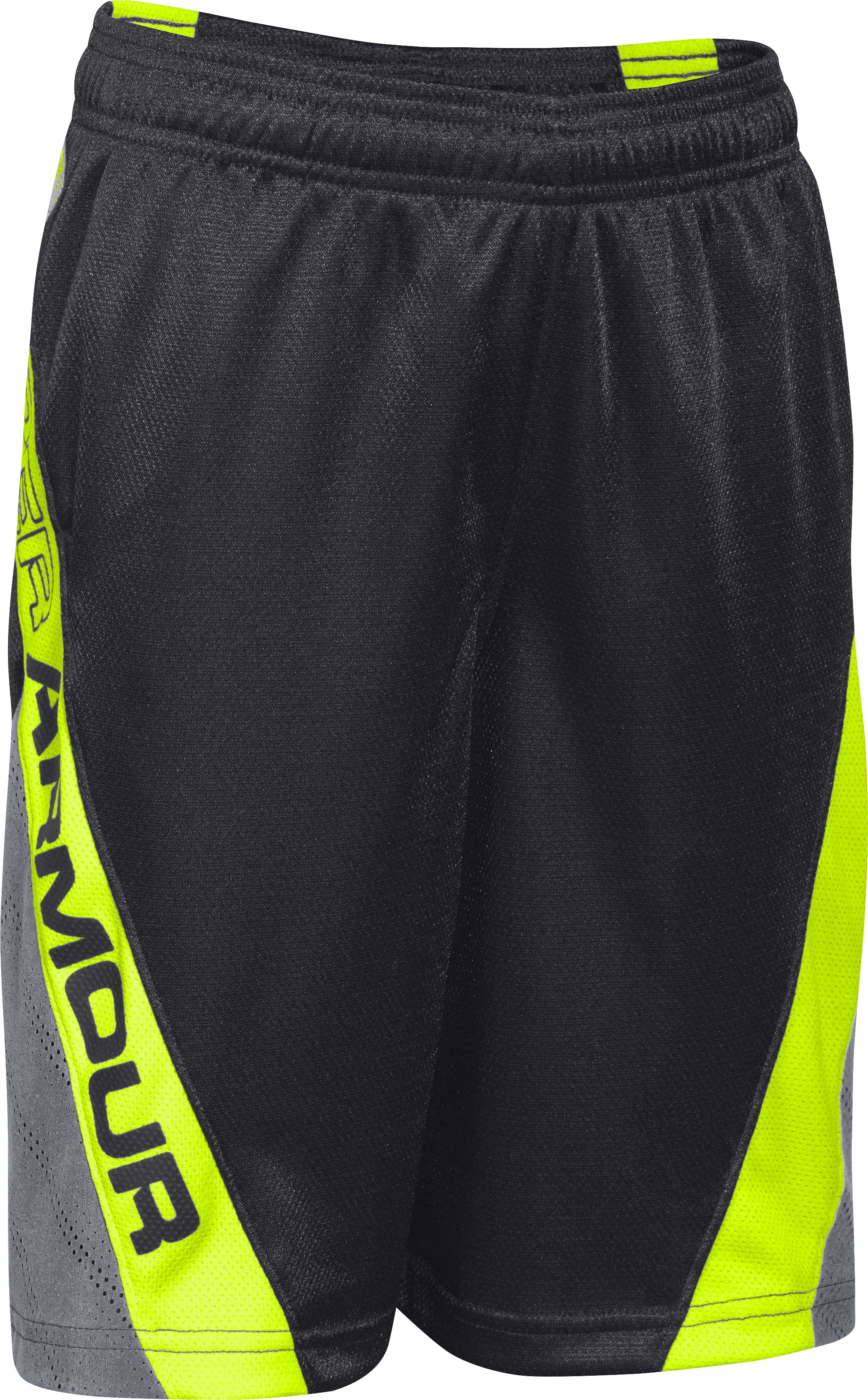 Boys' UA HeatGear® ArmourVent™ No Weak Sauce Shorts, Black , undefined
