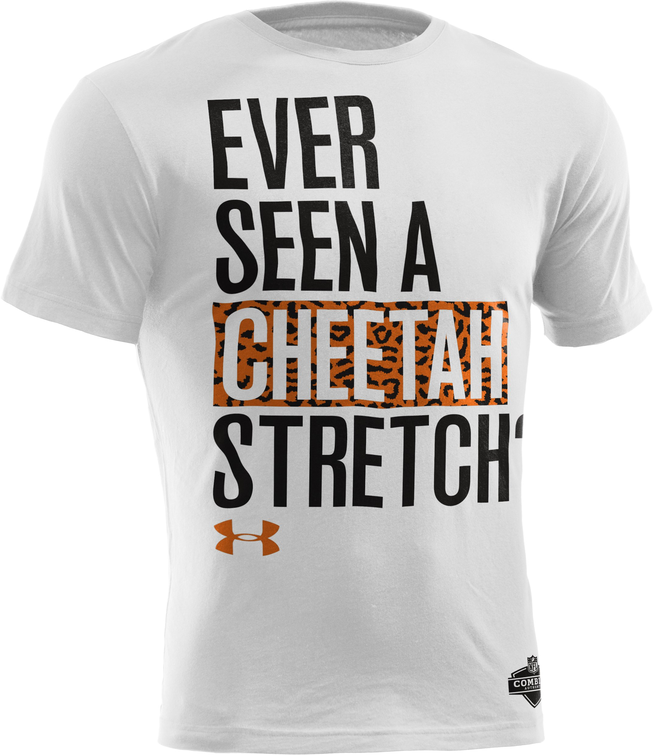 Men's NFL Combine Authentic Sandcastle Cheetah T-Shirt, White