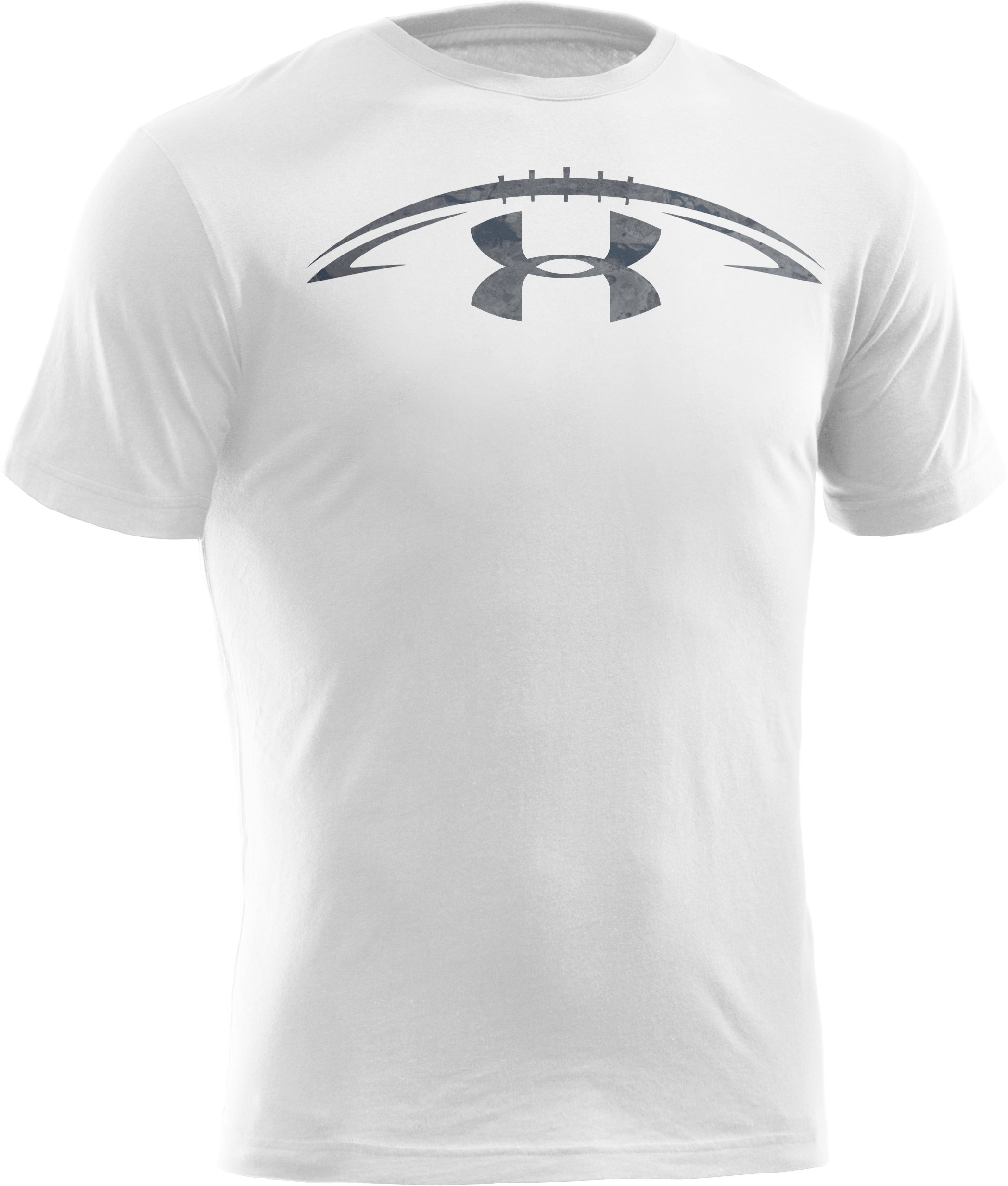Men's UA Football Concrete Logo T-Shirt, White