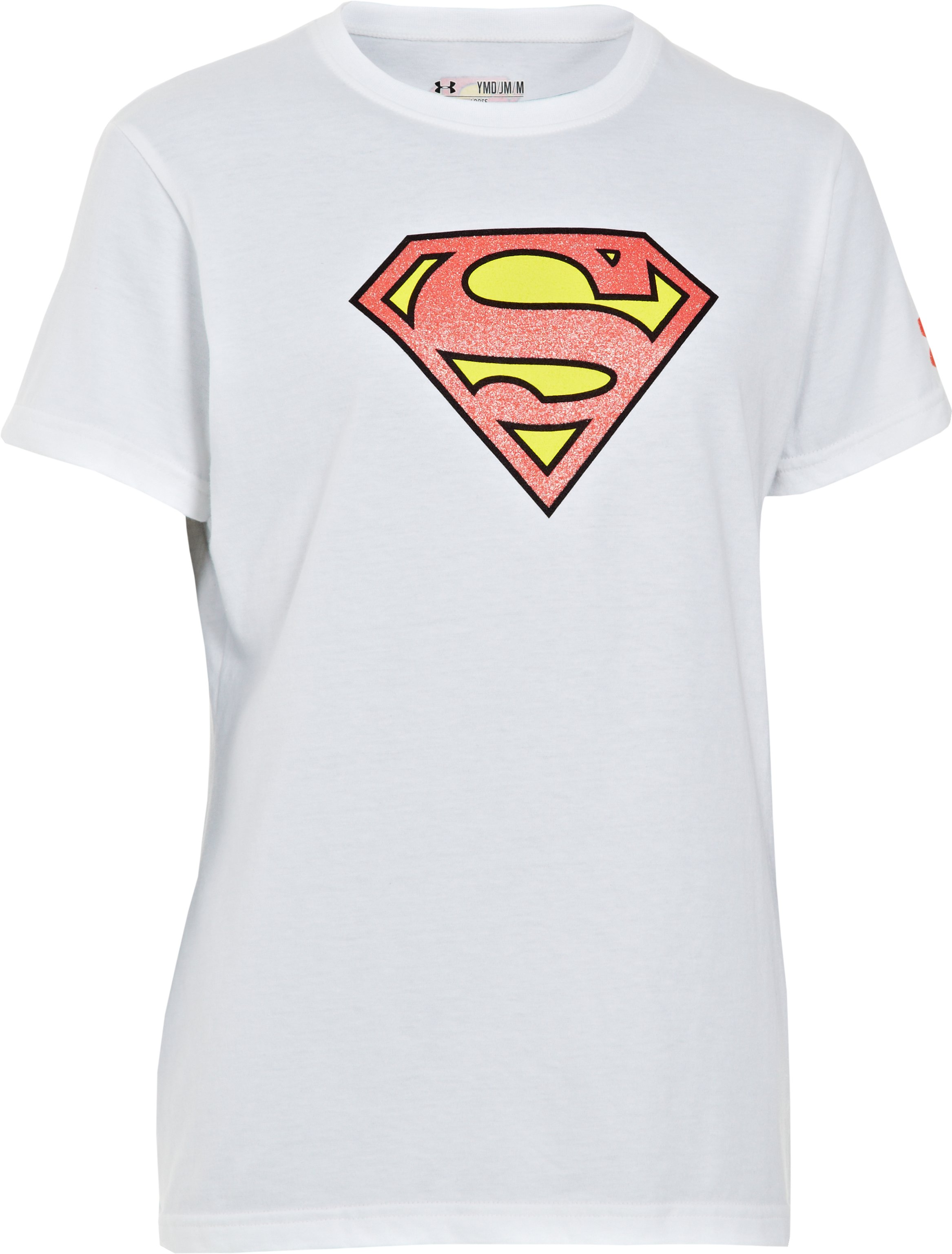 Girls' Under Armour® Alter Ego Supergirl T-Shirt, White,