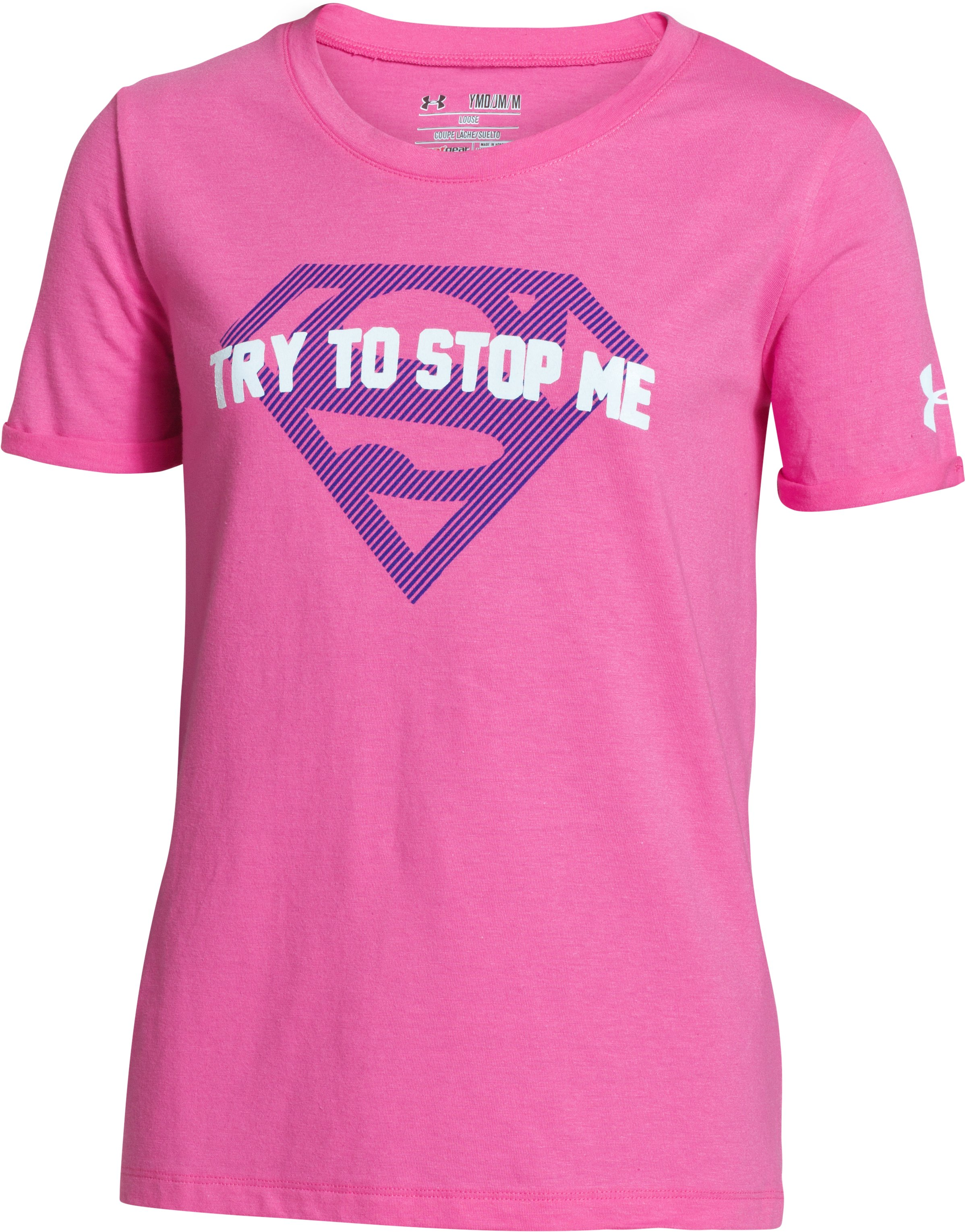 Girls' Under Armour® Alter Ego Supergirl Glow T-Shirt, CHAOS