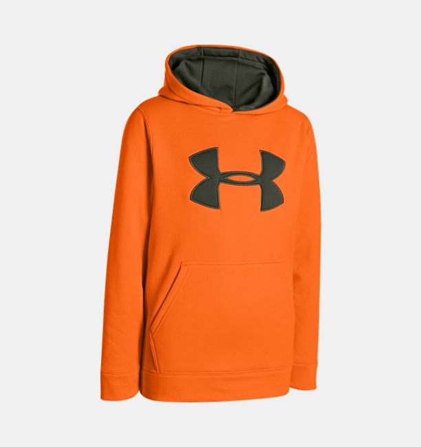 For your consideration is an Under Armour storm gray with camo Under Armour logo. It is a loose hoodie sweatshirt boys' size XL. Very high quality Under Armour hoodie in very gently used condition.