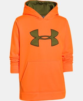 Boys' Armour® Fleece Camo Big Logo Hoodie LIMITED TIME: FREE U.S. SHIPPING  $26.99