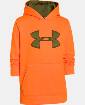Boys' Armour® Fleece Camo Big Logo Hoodie LIMITED TIME: FREE U.S. SHIPPING  $26.99 to $44.99