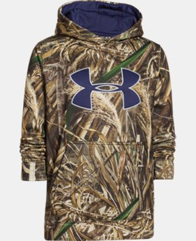 Boys' Armour® Fleece Camo Big Logo Hoodie LIMITED TIME: FREE U.S. SHIPPING 3 Colors $26.99 to $44.99