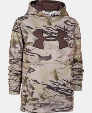 Boys' Armour® Fleece Camo Big Logo Hoodie  5 Colors $33.74