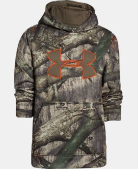 Boys' Armour® Fleece Camo Big Logo Hoodie   $44.99