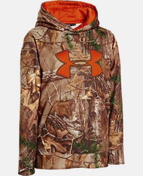 Boys' Armour® Fleece Camo Big Logo Hoodie  4 Colors $44.99