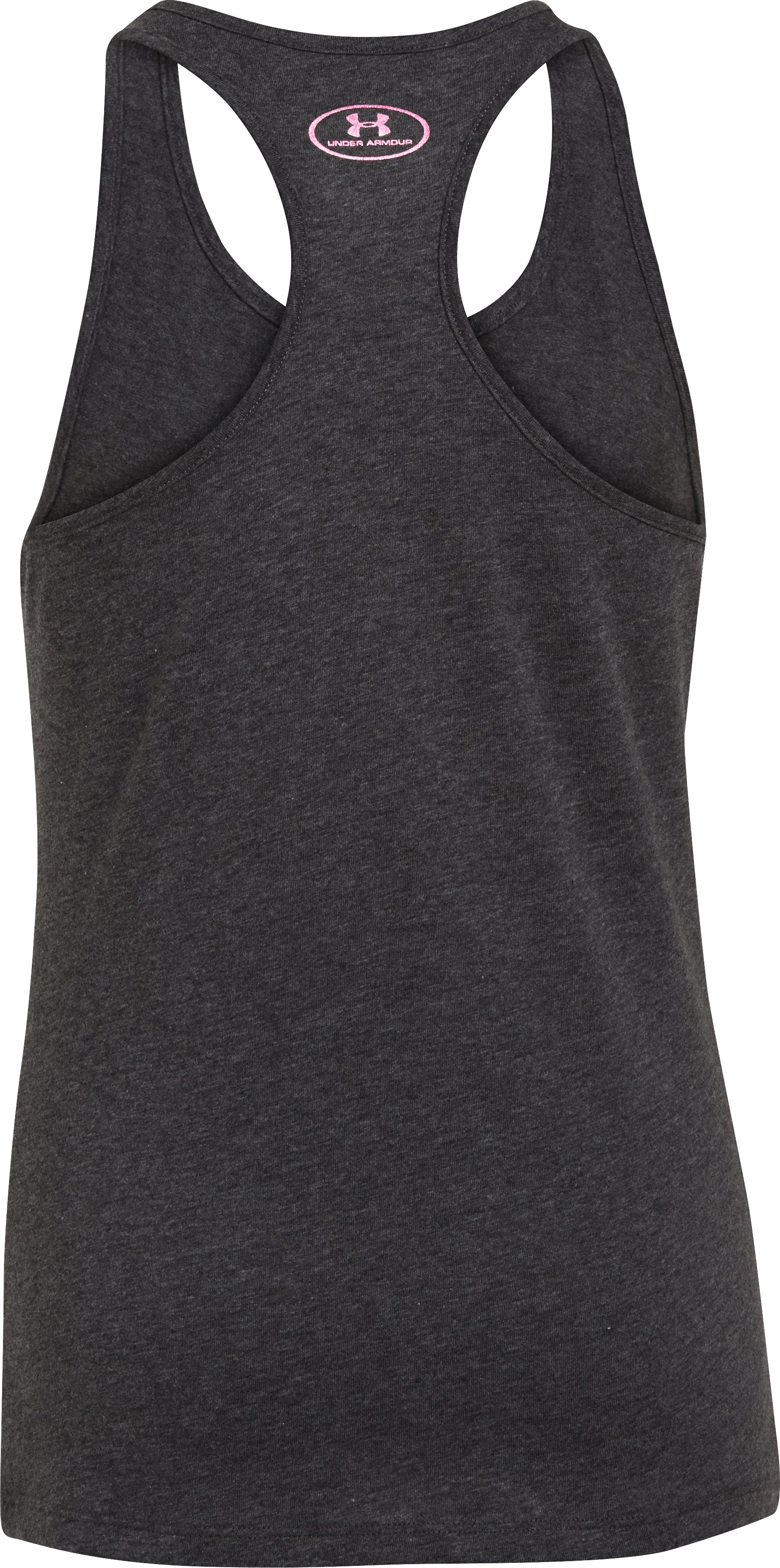 Girls' UA Wonder Woman Printed Logo Tank, Carbon Heather