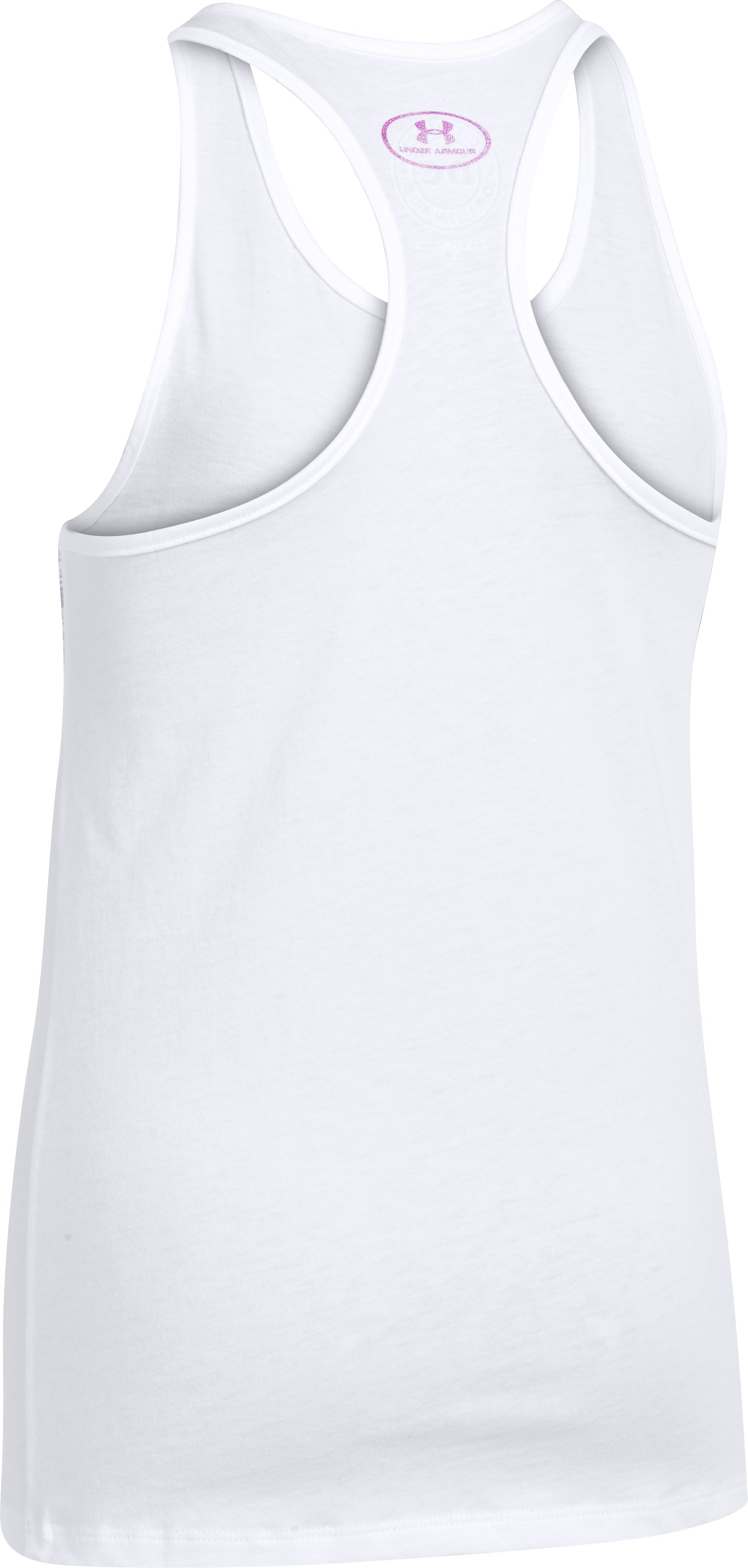 Girls' UA Wonder Woman Printed Logo Tank, White