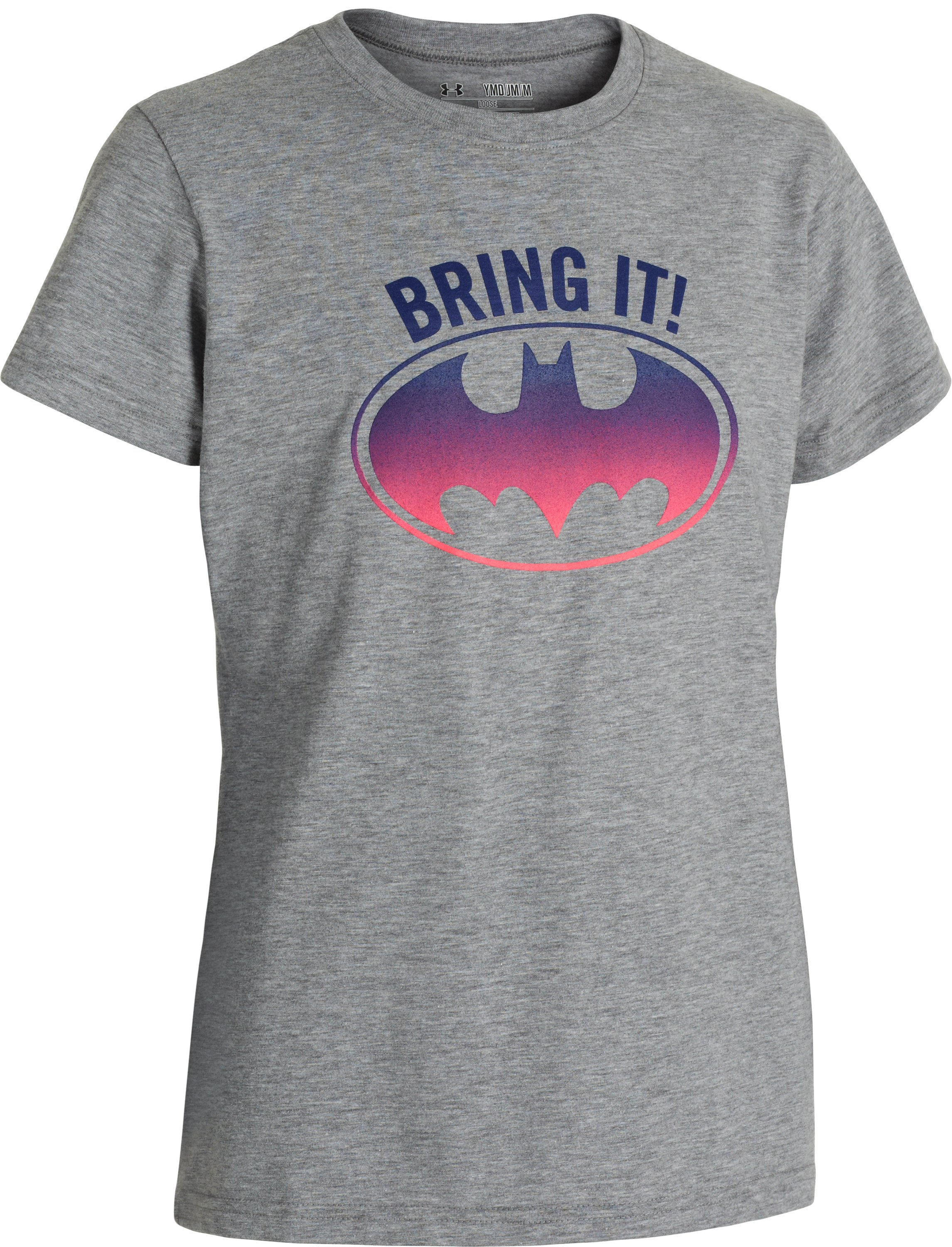 Girls' Under Armour® Alter Ego Batgirl Bring It T-Shirt, True Gray Heather, undefined