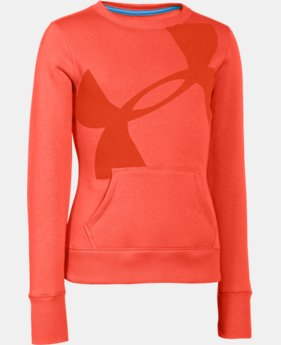 Girls' UA Hype Cotton Crew Sweatshirt  1 Color $25.99