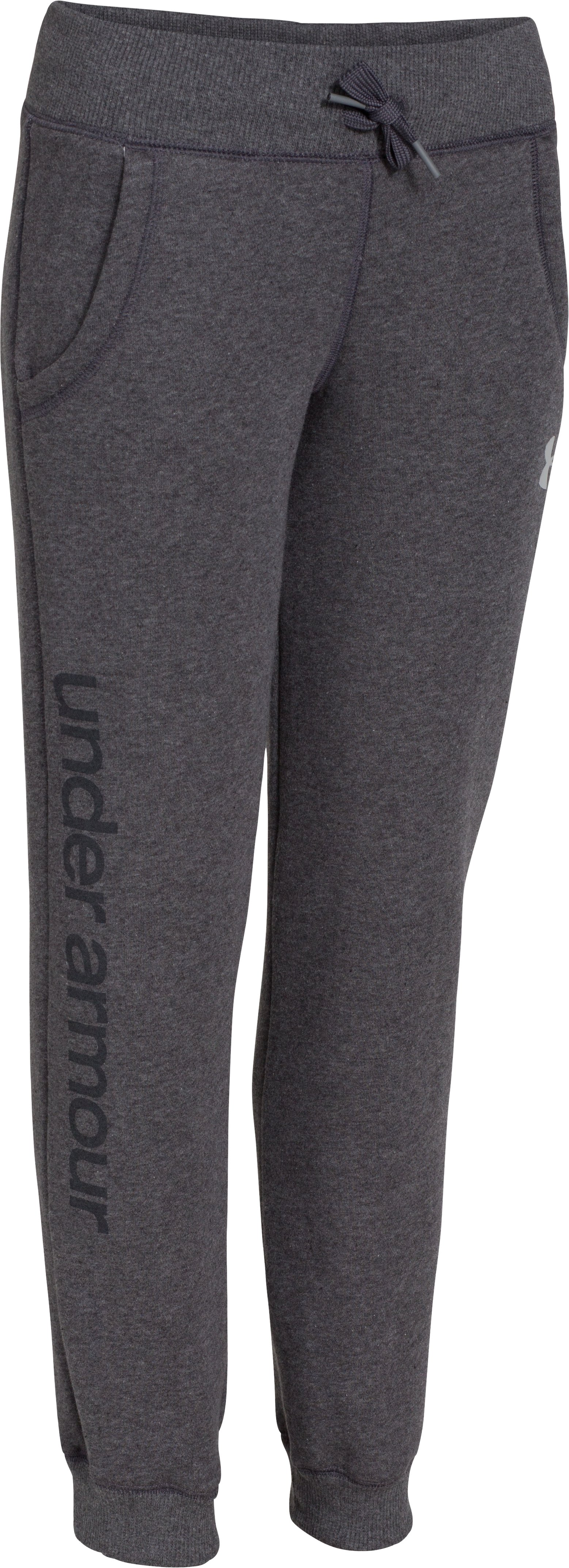 Girls' UA Hype Cotton Pant, Carbon Heather, zoomed image