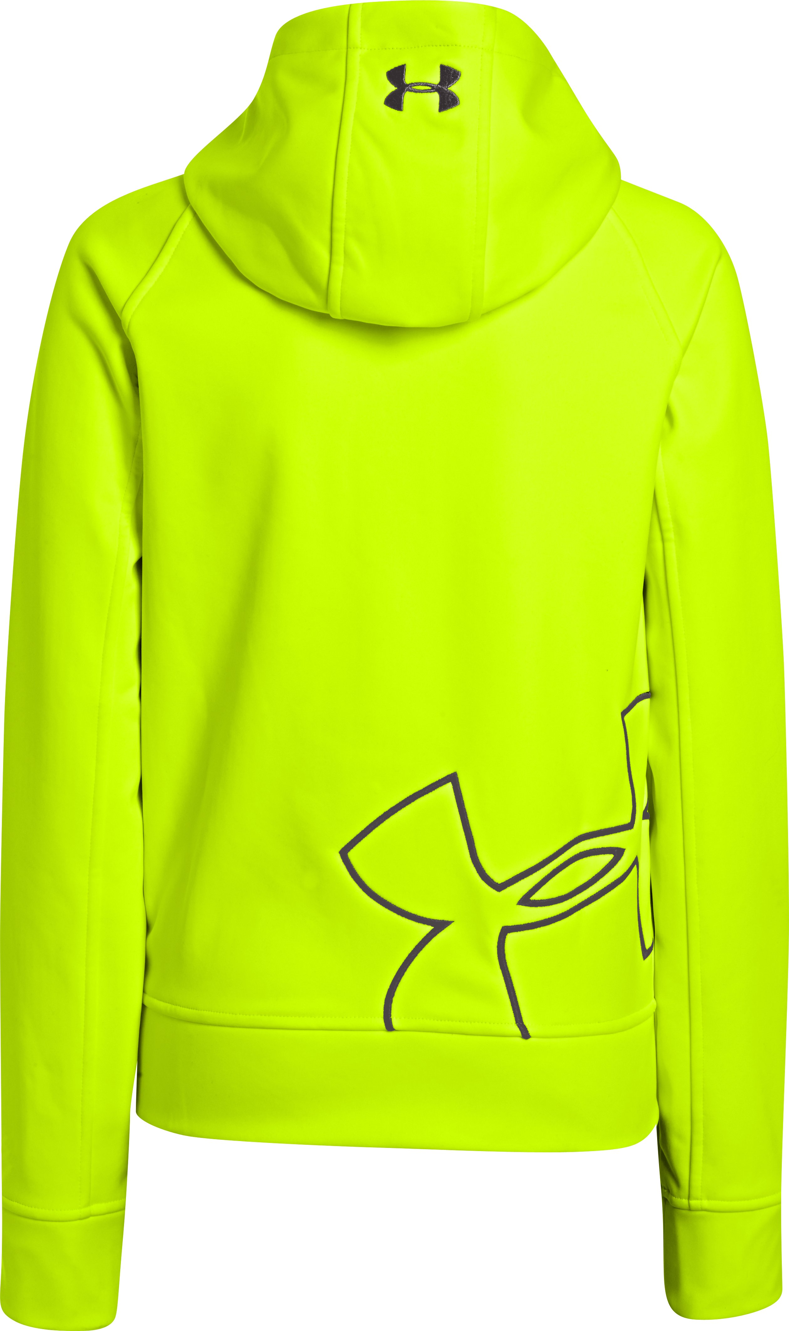 Boys' UA Storm ColdGear® Infrared Softershell Hoodie, High-Vis Yellow, undefined
