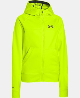 Boys' UA Storm ColdGear® Infrared Softershell Hoodie LIMITED TIME: FREE U.S. SHIPPING 1 Color $54.99 to $62.99