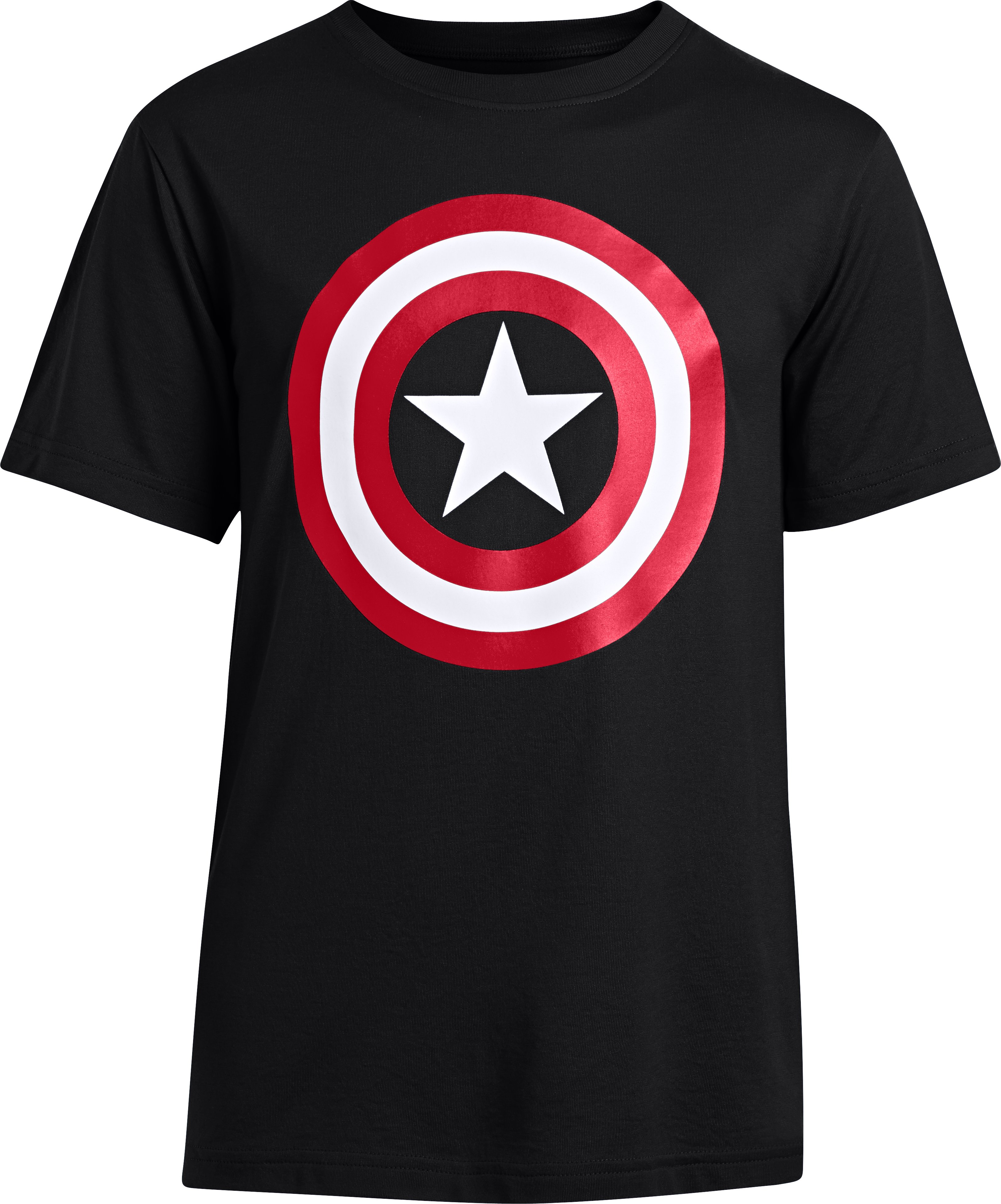 Boys' Under Armour® Alter Ego Captain America Logo T-Shirt, Black , zoomed image