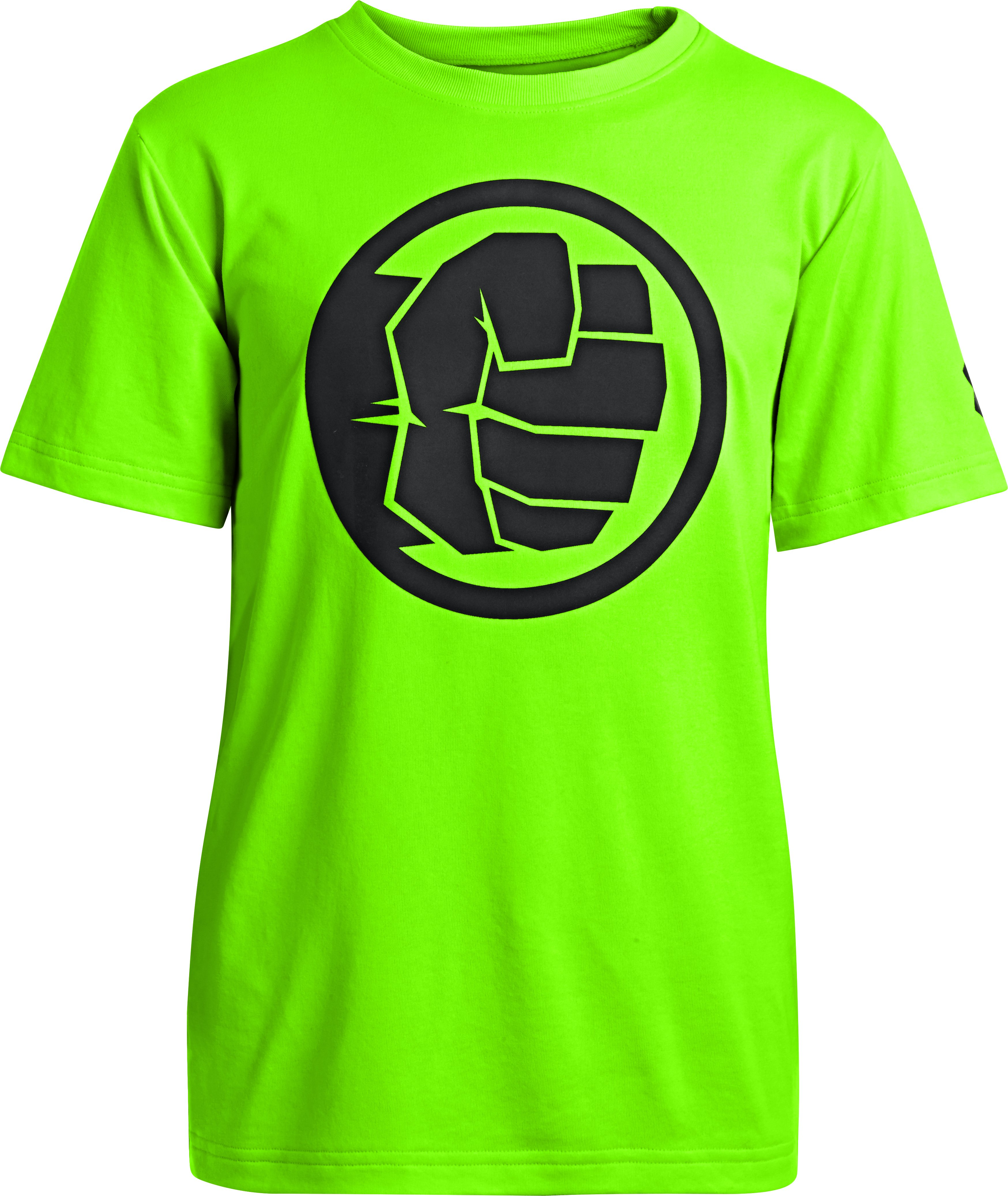 Boys' Under Armour® Alter Ego Hulk Neon T-Shirt, HYPER GREEN, zoomed image
