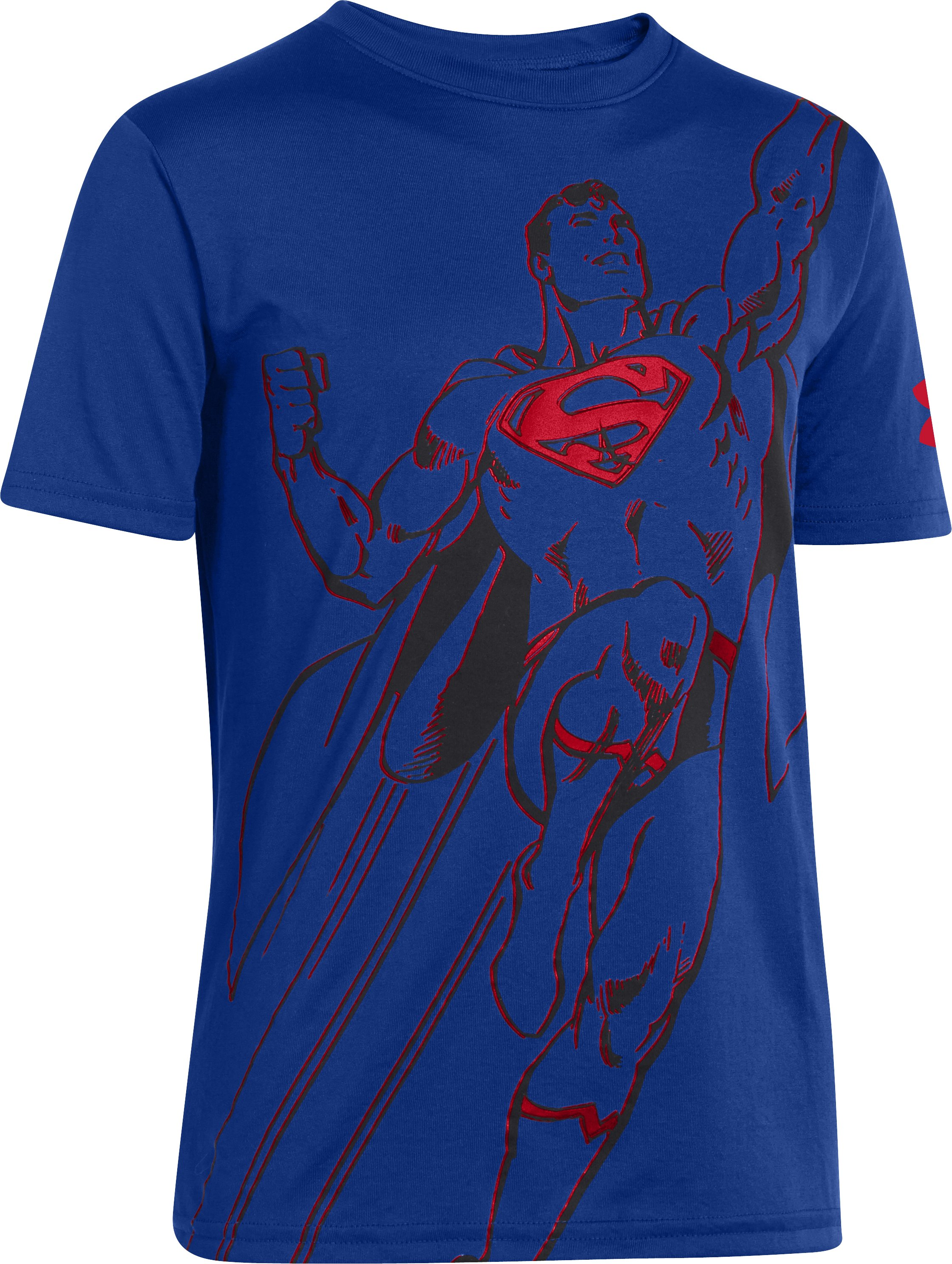 Boys' Under Armour® Alter Ego Superman Action T-Shirt, Royal, zoomed image