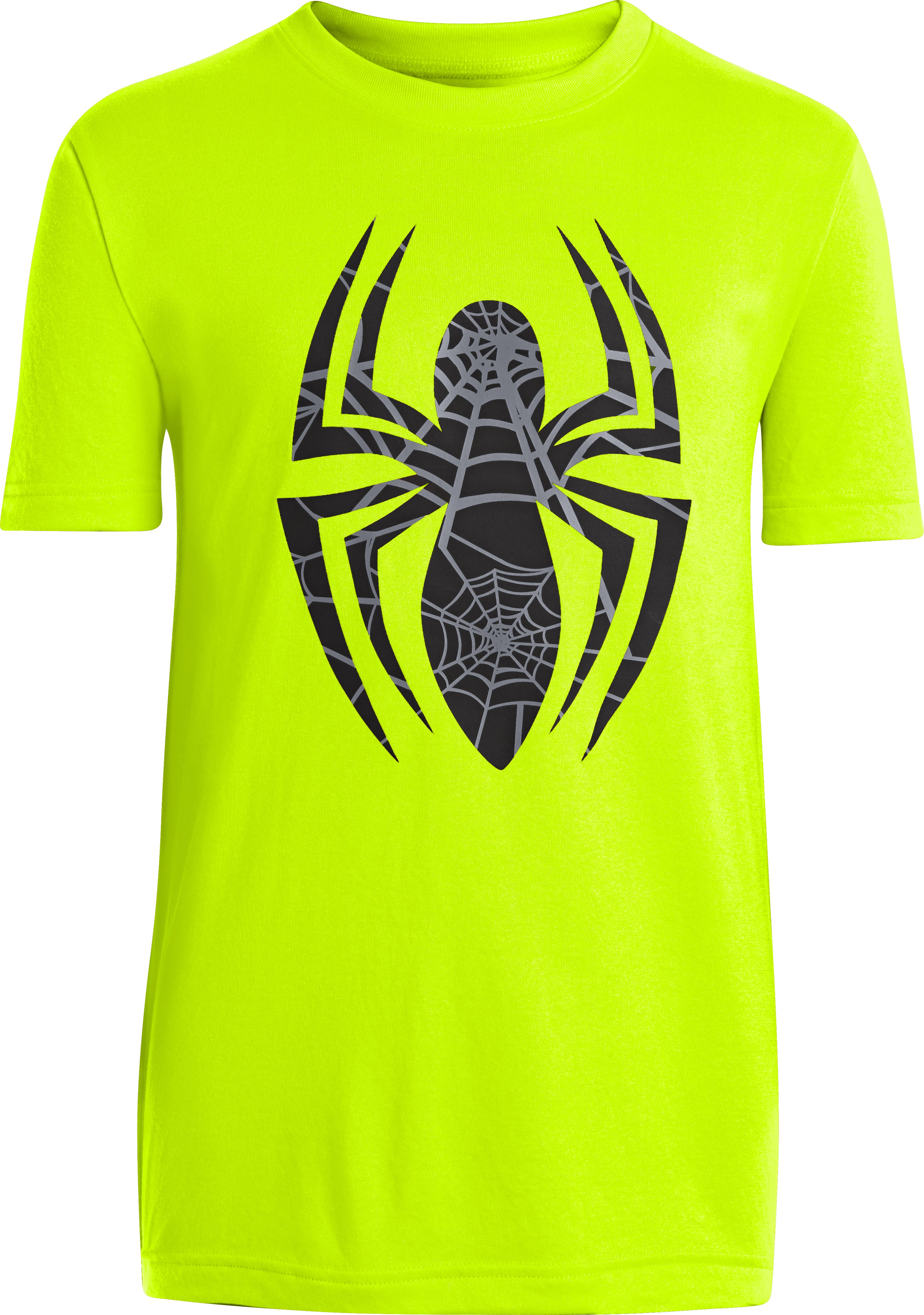 Boys' Under Armour® Alter Ego Spider-Man Logo T-Shirt, High-Vis Yellow