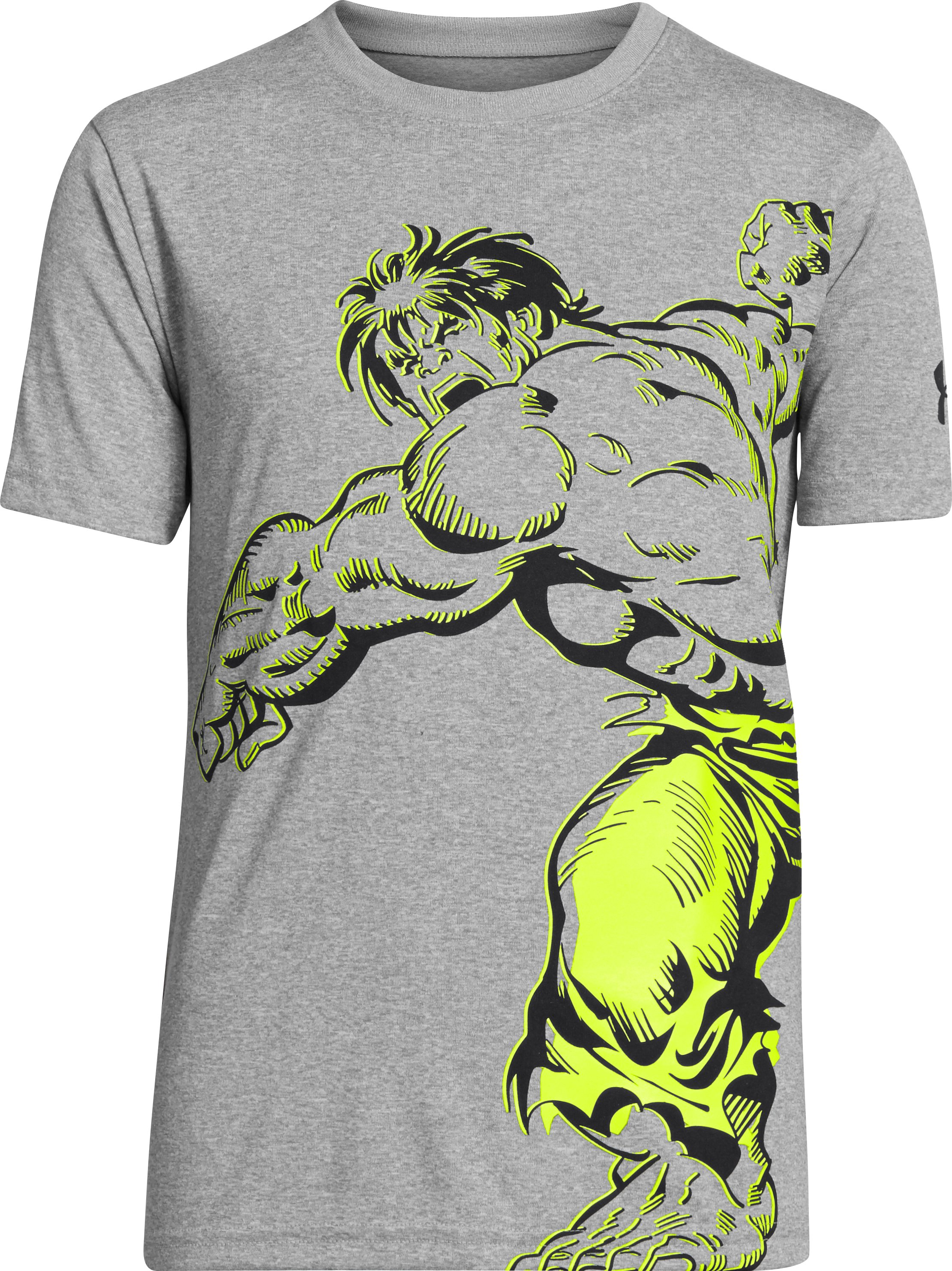 Boys' Under Armour® Alter Ego Hulk Action T-Shirt, True Gray Heather, zoomed image