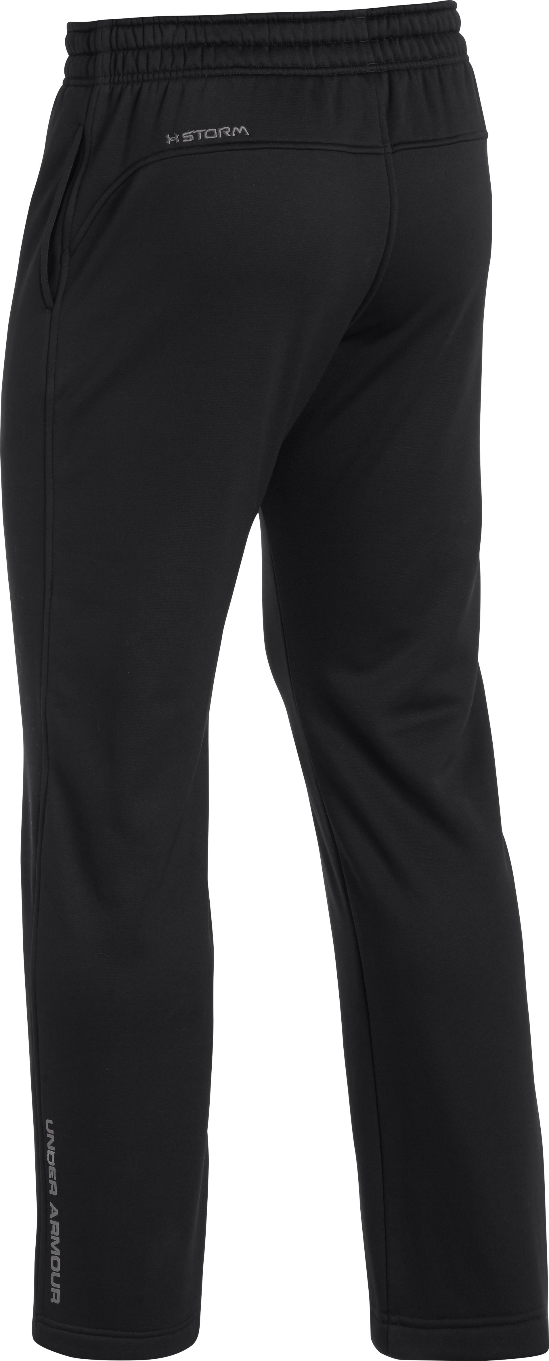 Men's UA Storm Armour Fleece® Pants, Black , undefined