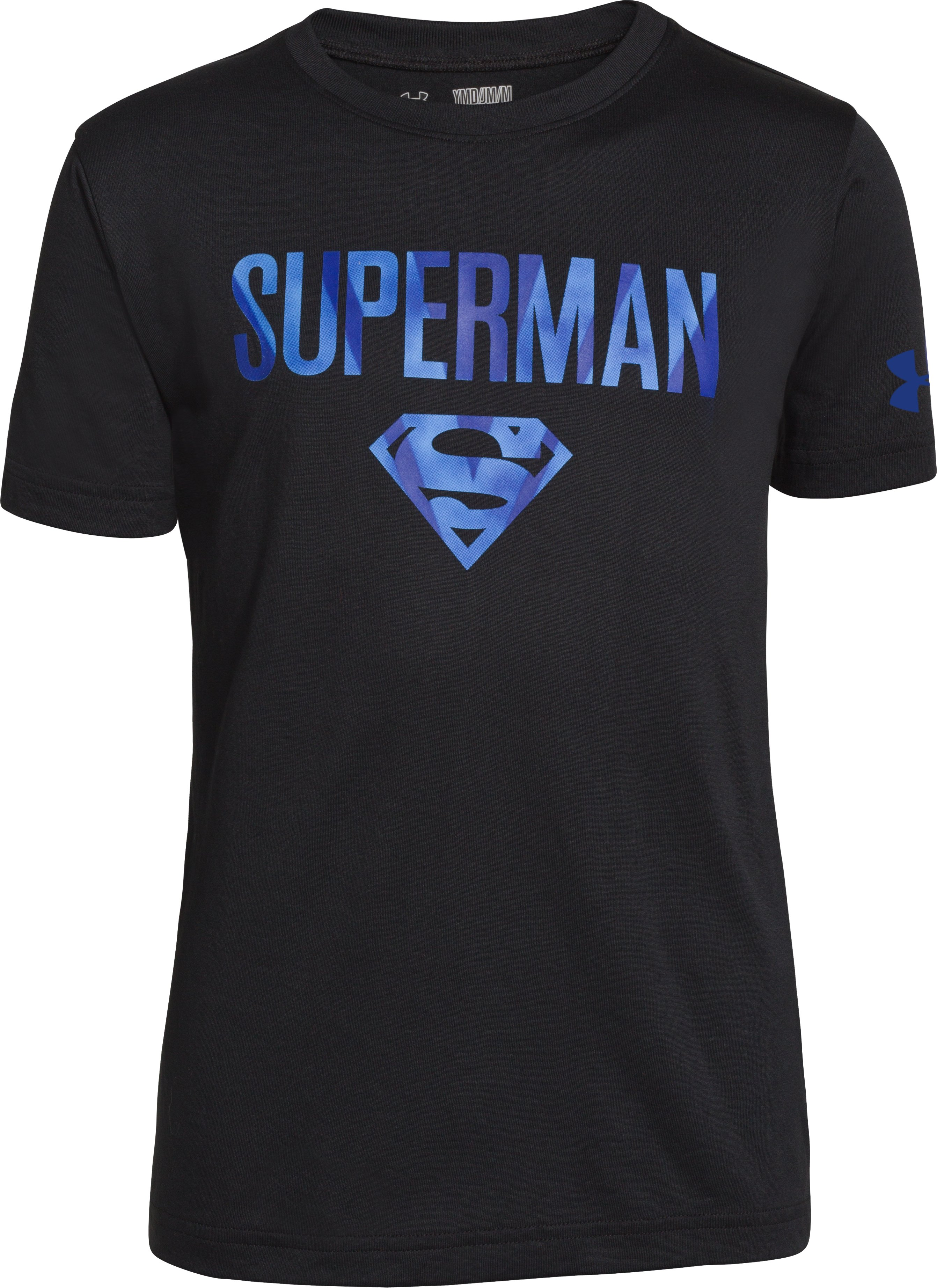 Boys' Under Armour® Superman Fortress T-Shirt, Black