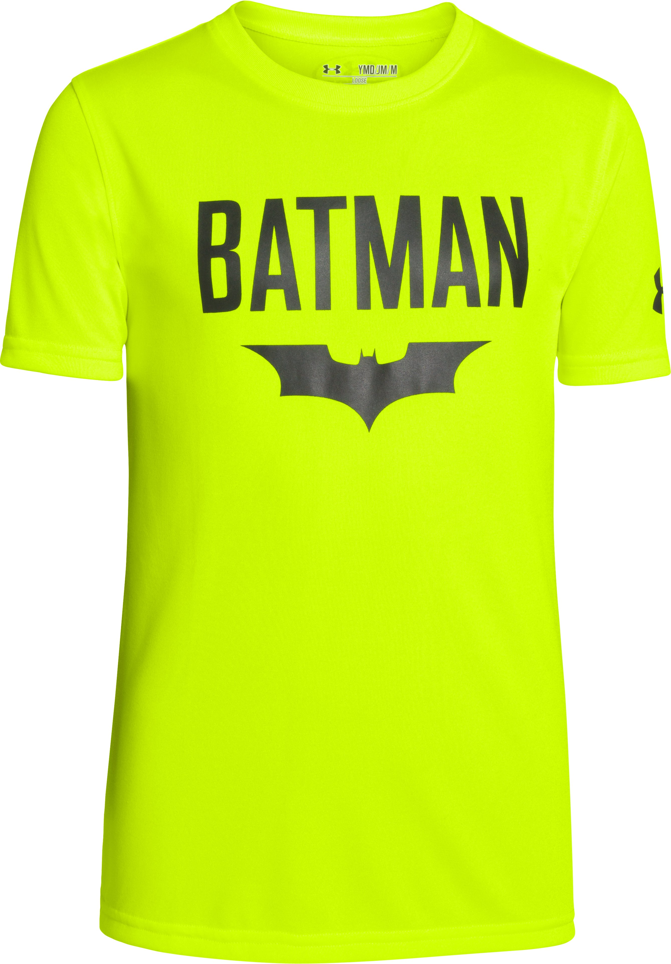 Boys' Under Armour® Alter Ego Batman Cave T-Shirt, High-Vis Yellow