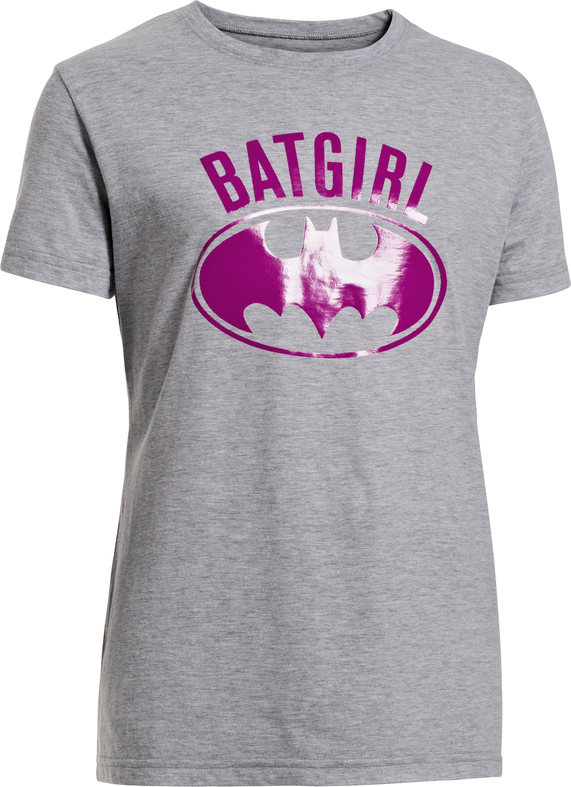 Girls' Under Armour® Alter Ego Batgirl Foil T-Shirt, True Gray Heather, zoomed image