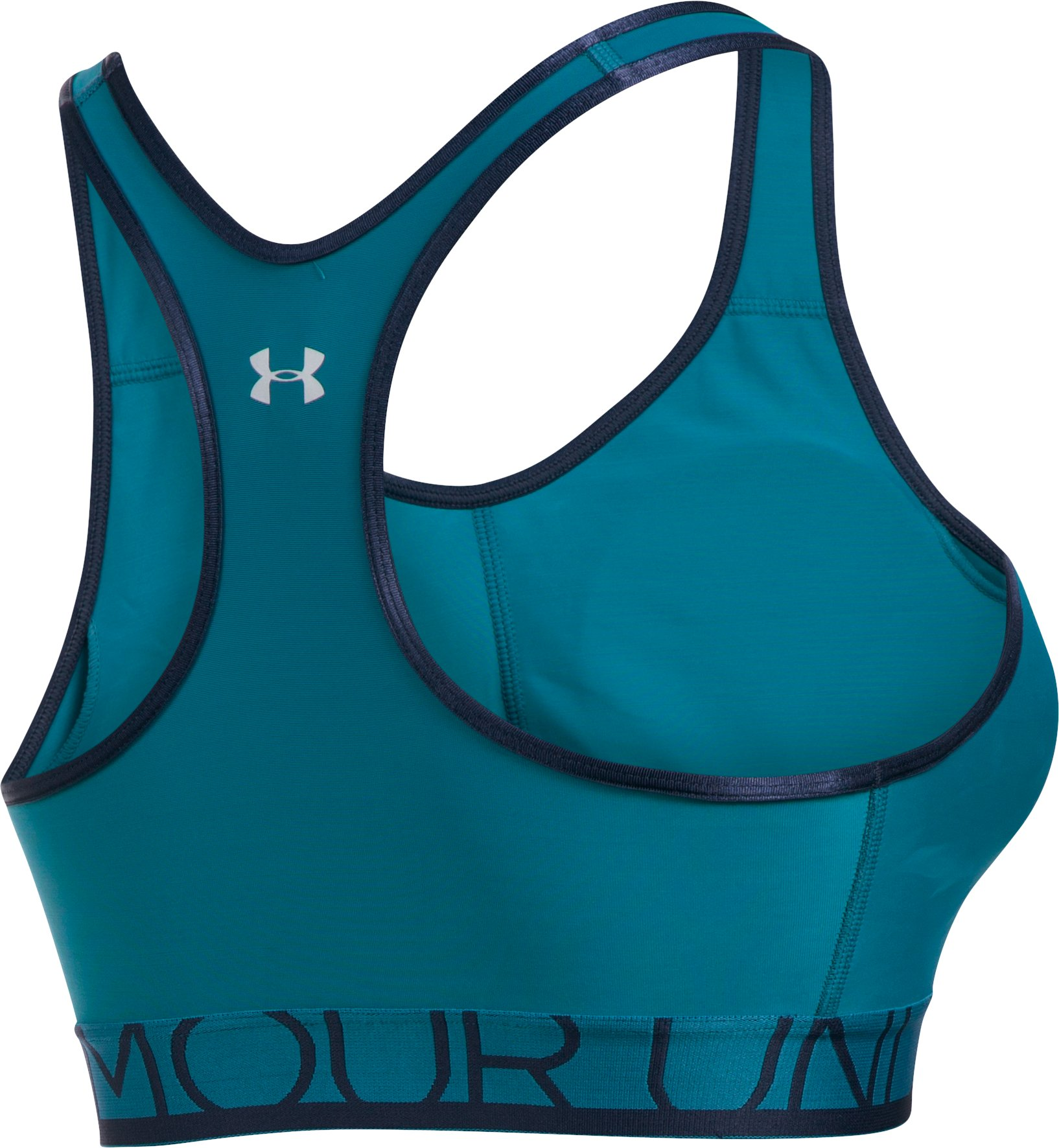 Women's UA Armour Mid Bra w/Cups, BAYOU BLUE, undefined