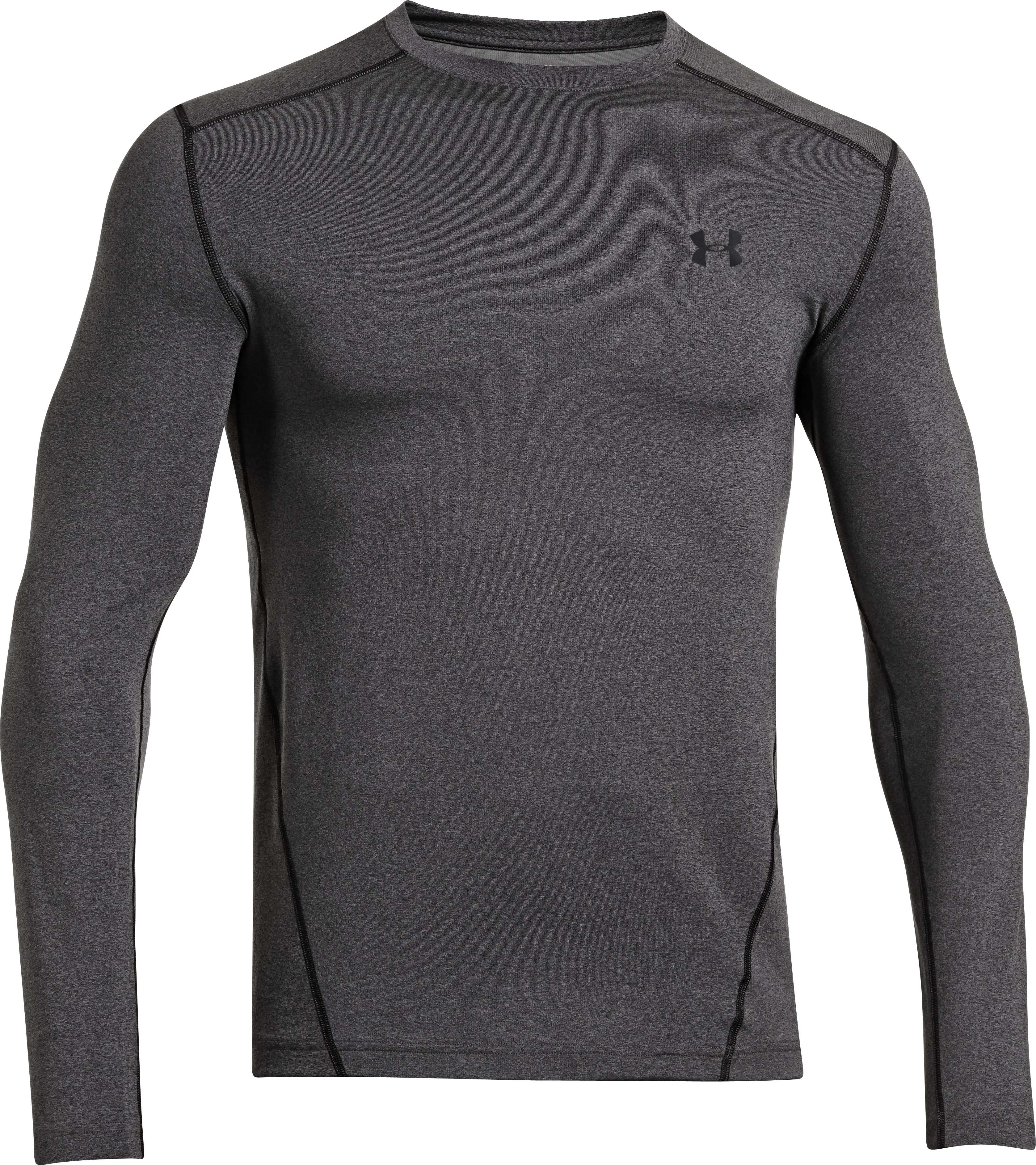 Men's UA ColdGear® Evo Fitted Crew, Carbon Heather