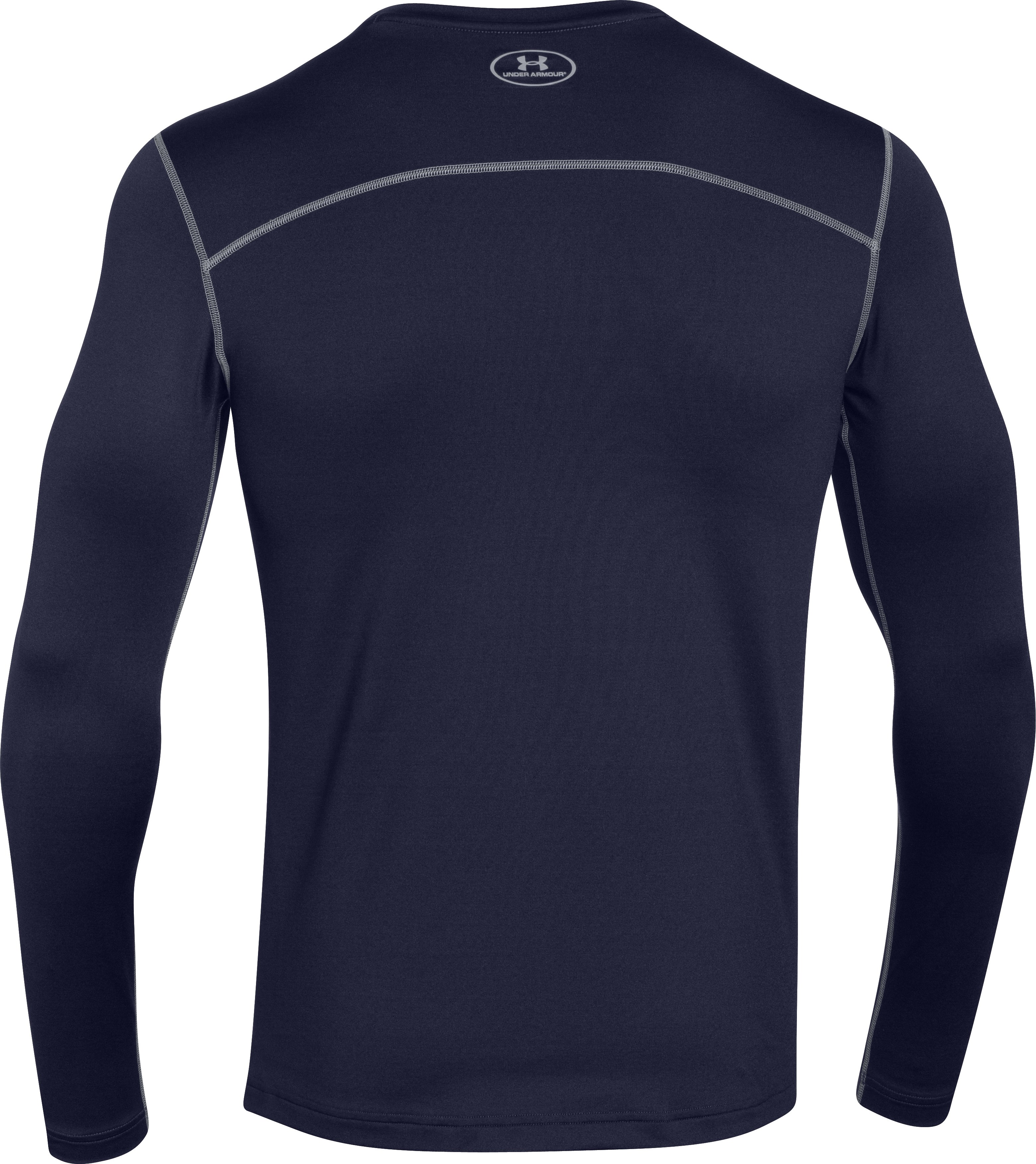 Men's UA ColdGear® Fitted Crew, Midnight Navy