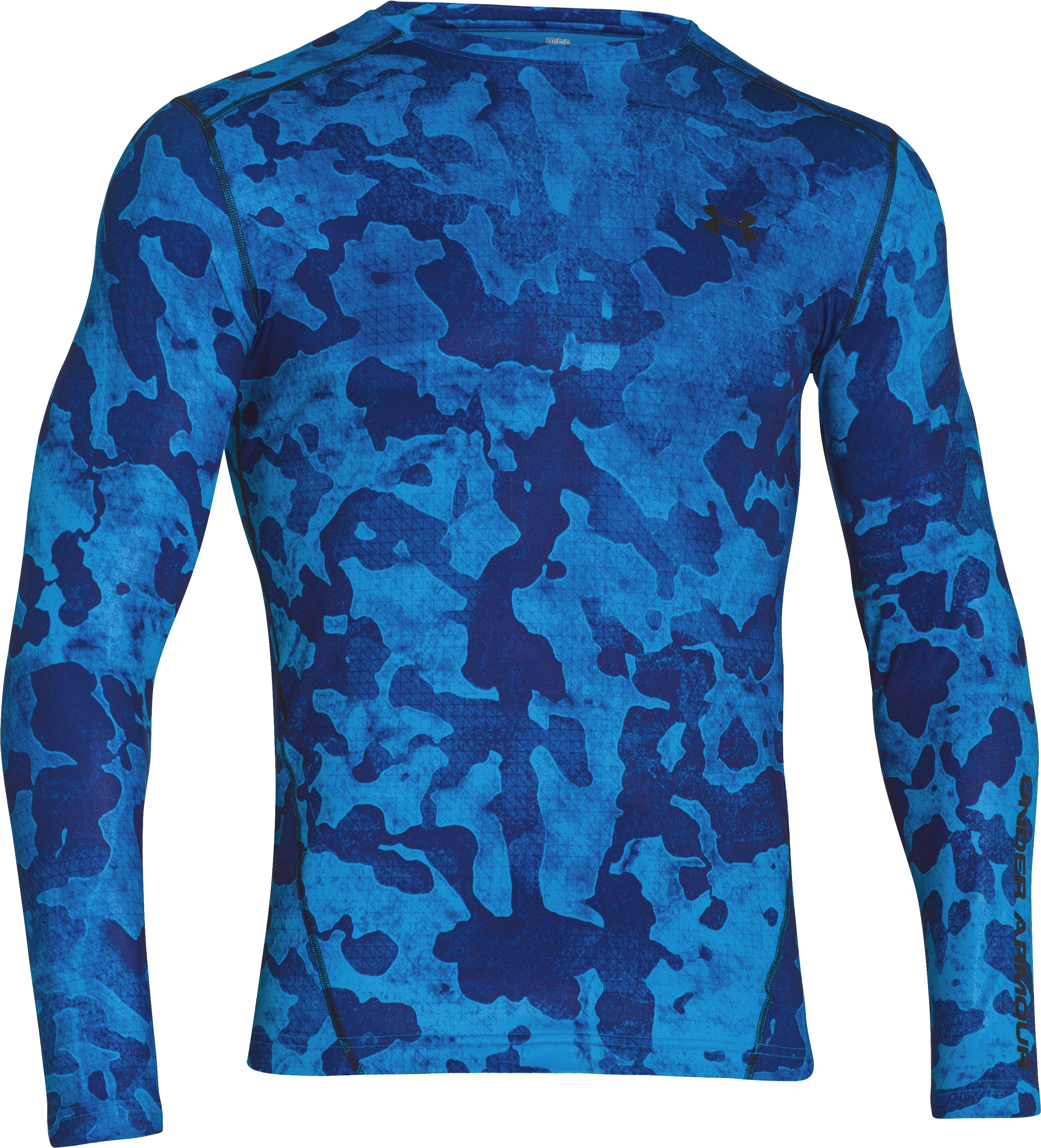 Men's UA ColdGear® Fitted Crew, ELECTRIC BLUE