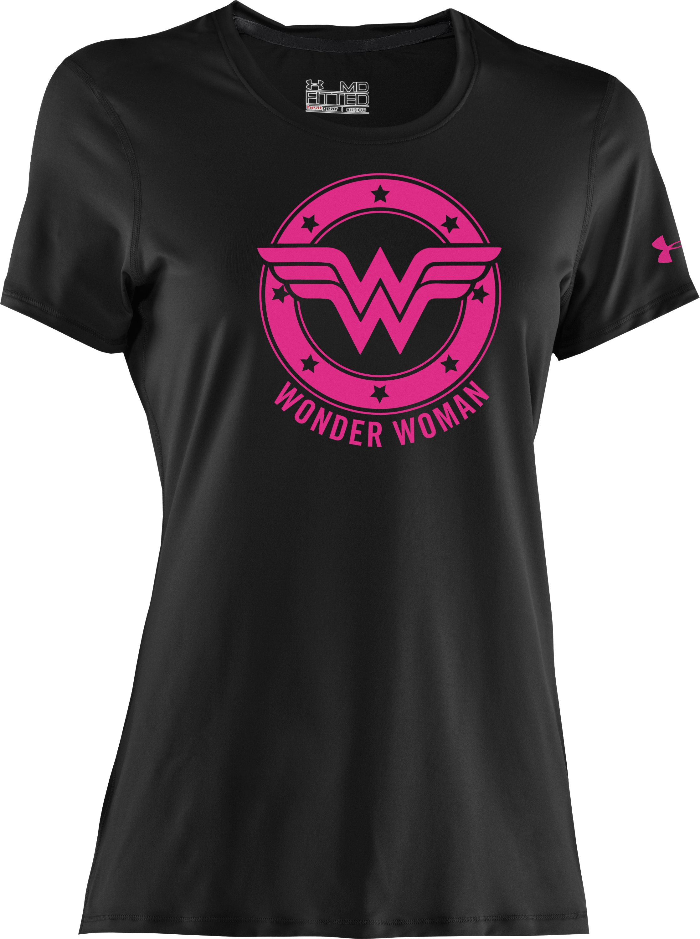 Women's UA Power In Pink®® Under Armour® Alter Ego Wonder Woman T-Shirt, Black ,