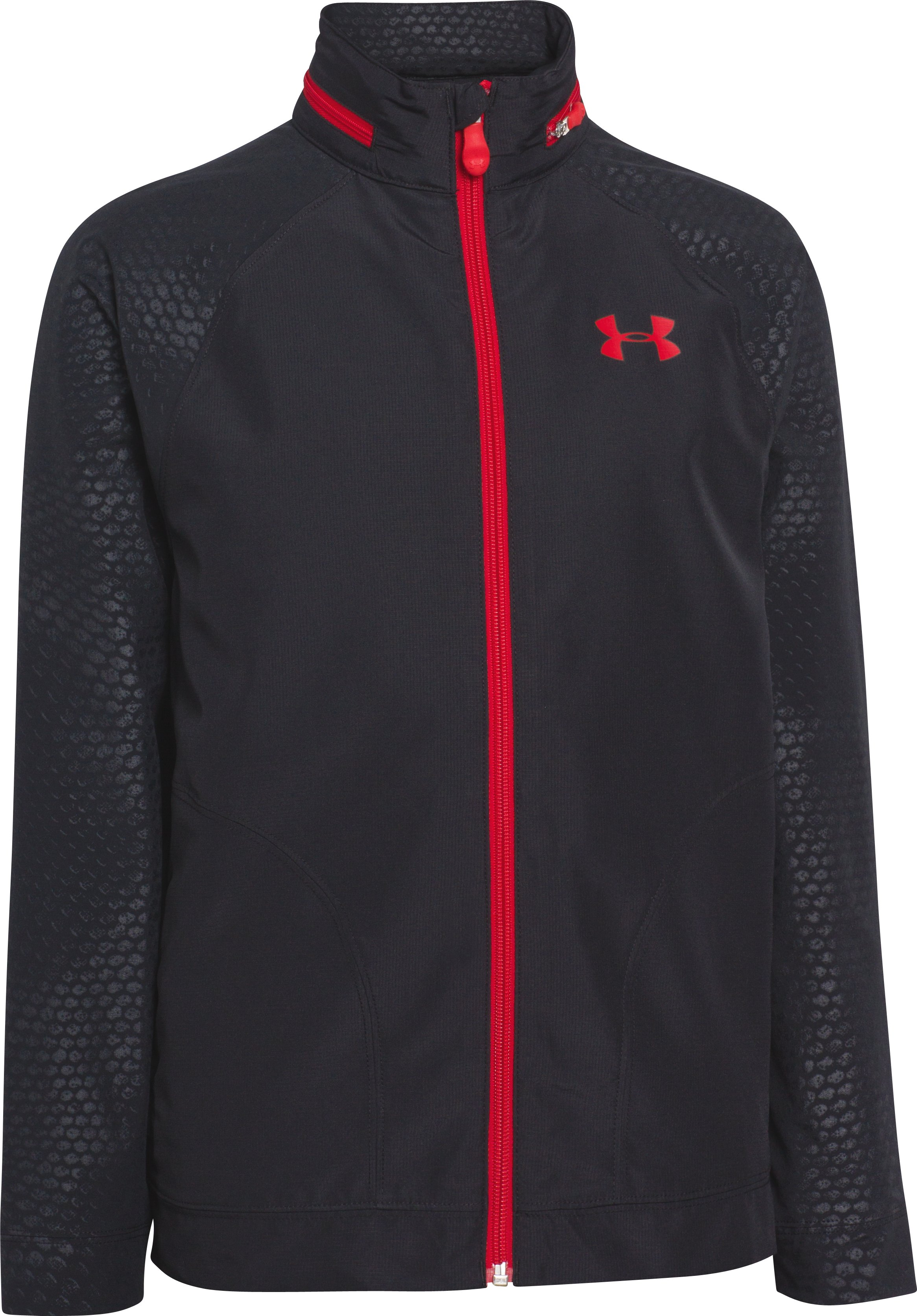 Boys' UA Front9 Wind Jacket, Black