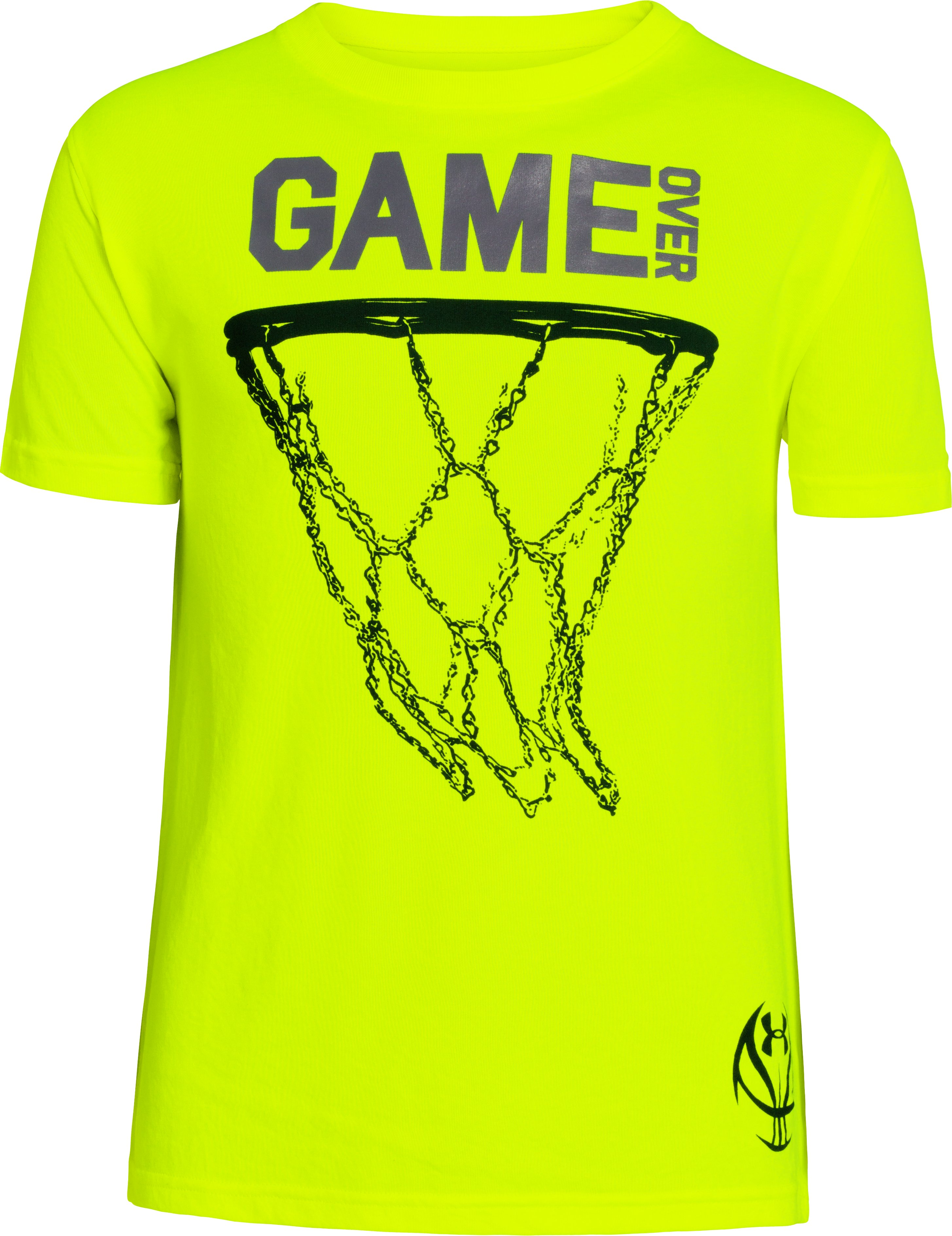 Boys' UA Game Chain T-Shirt, High-Vis Yellow, zoomed image