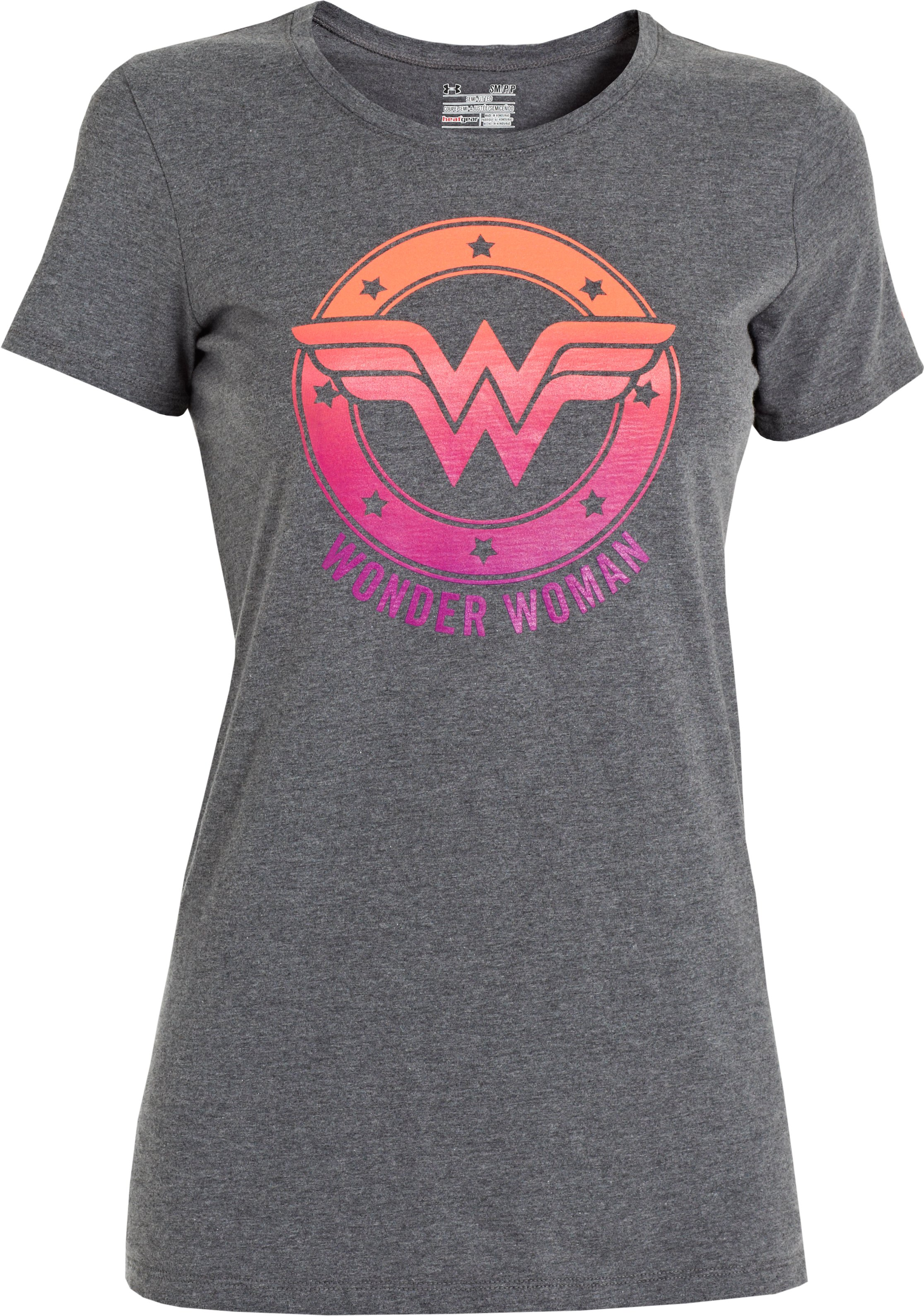 Women's Under Armour® Alter Ego Ombre Wonder Woman Semi-Fitted T-Shirt, Carbon Heather